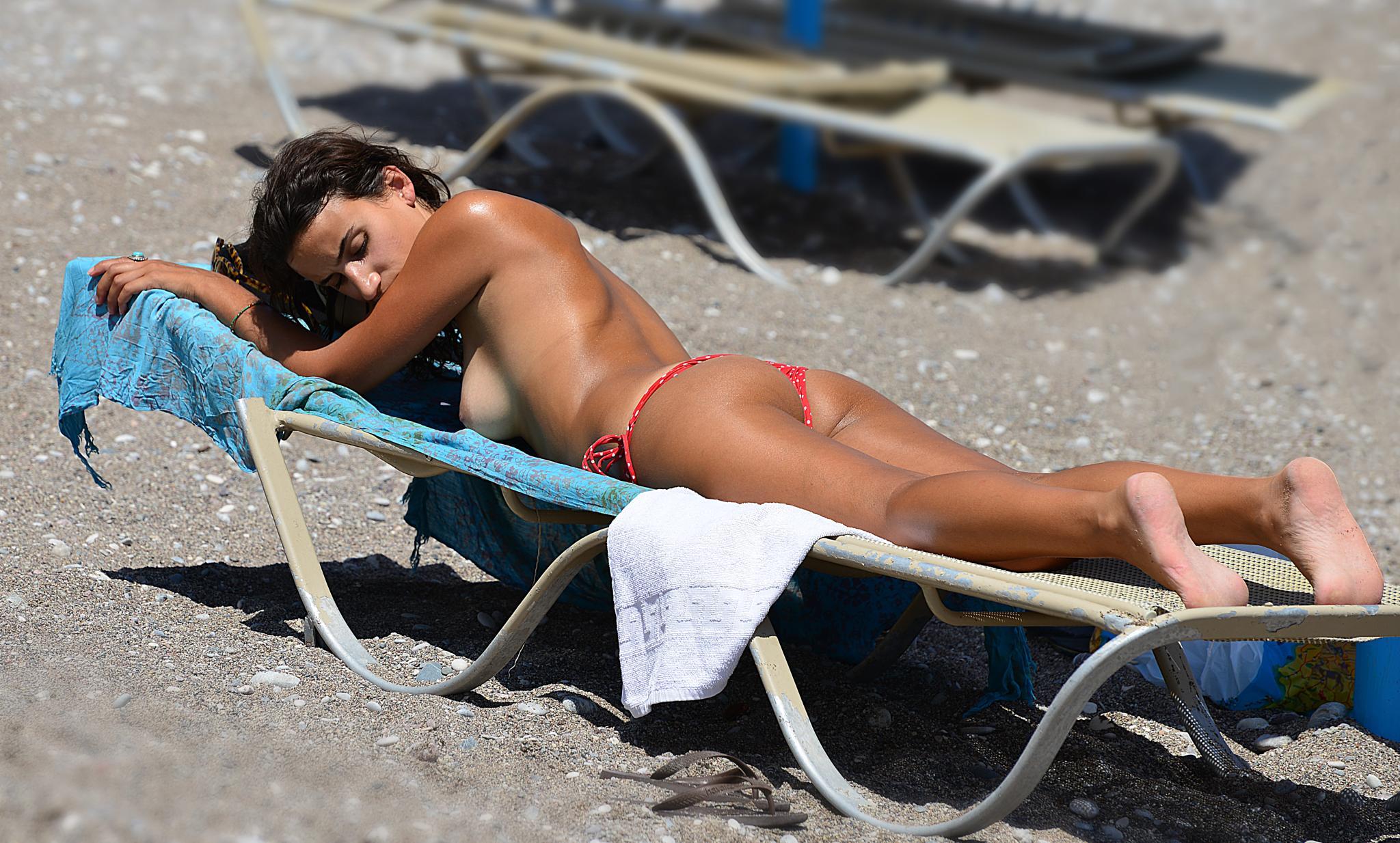 On Greece Beach by Motti Shonak