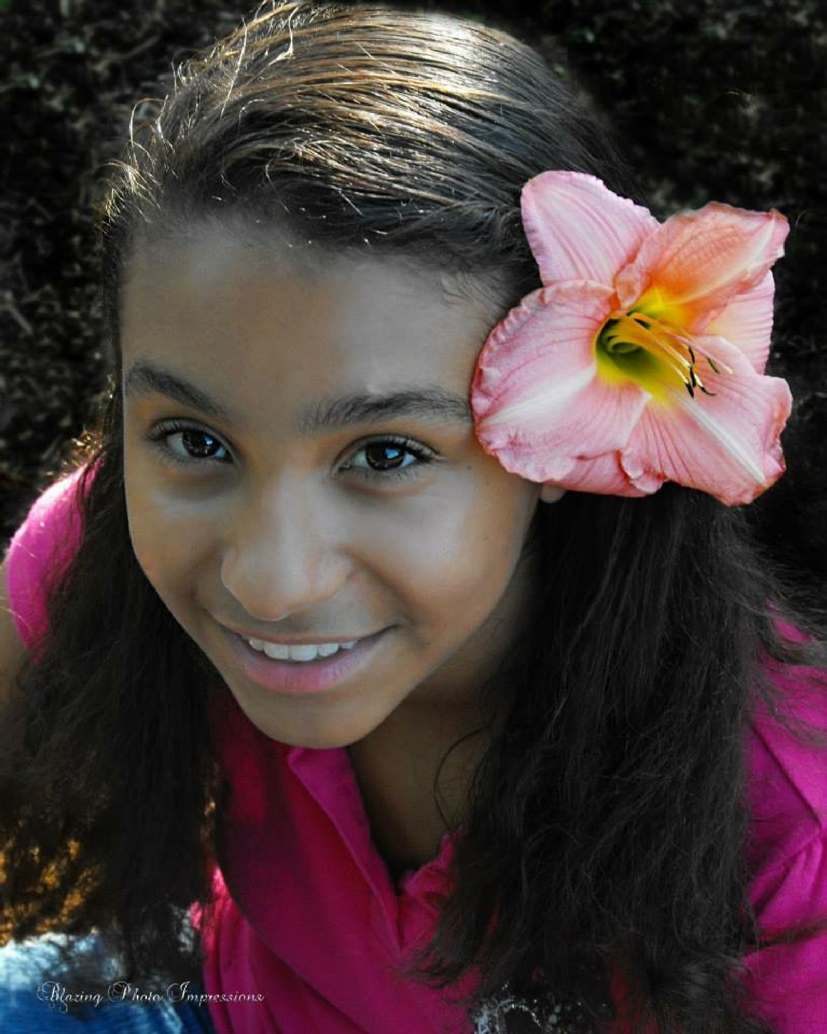 Flower girl by Nanehi Moon