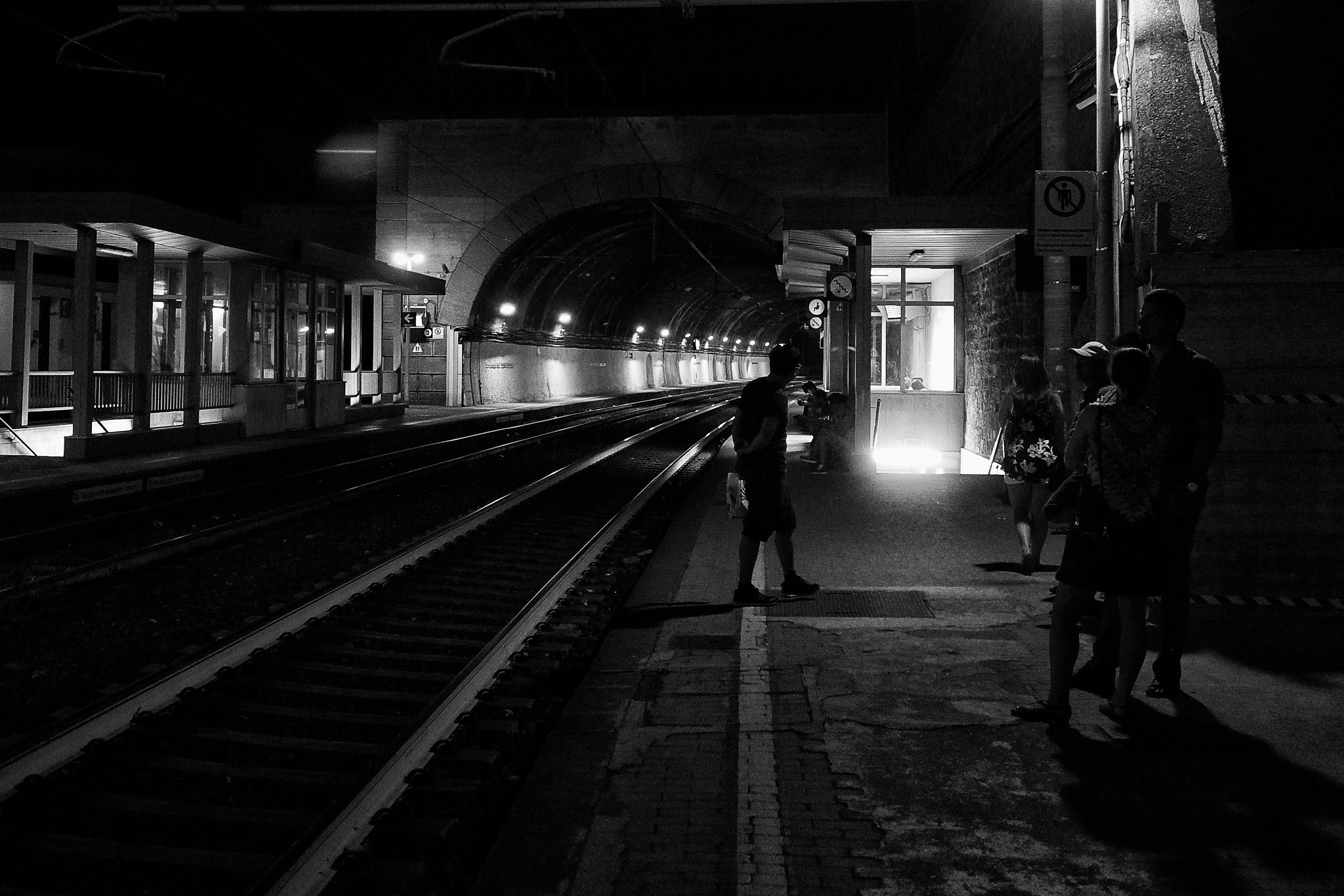 Waiting for a train by Philip S.