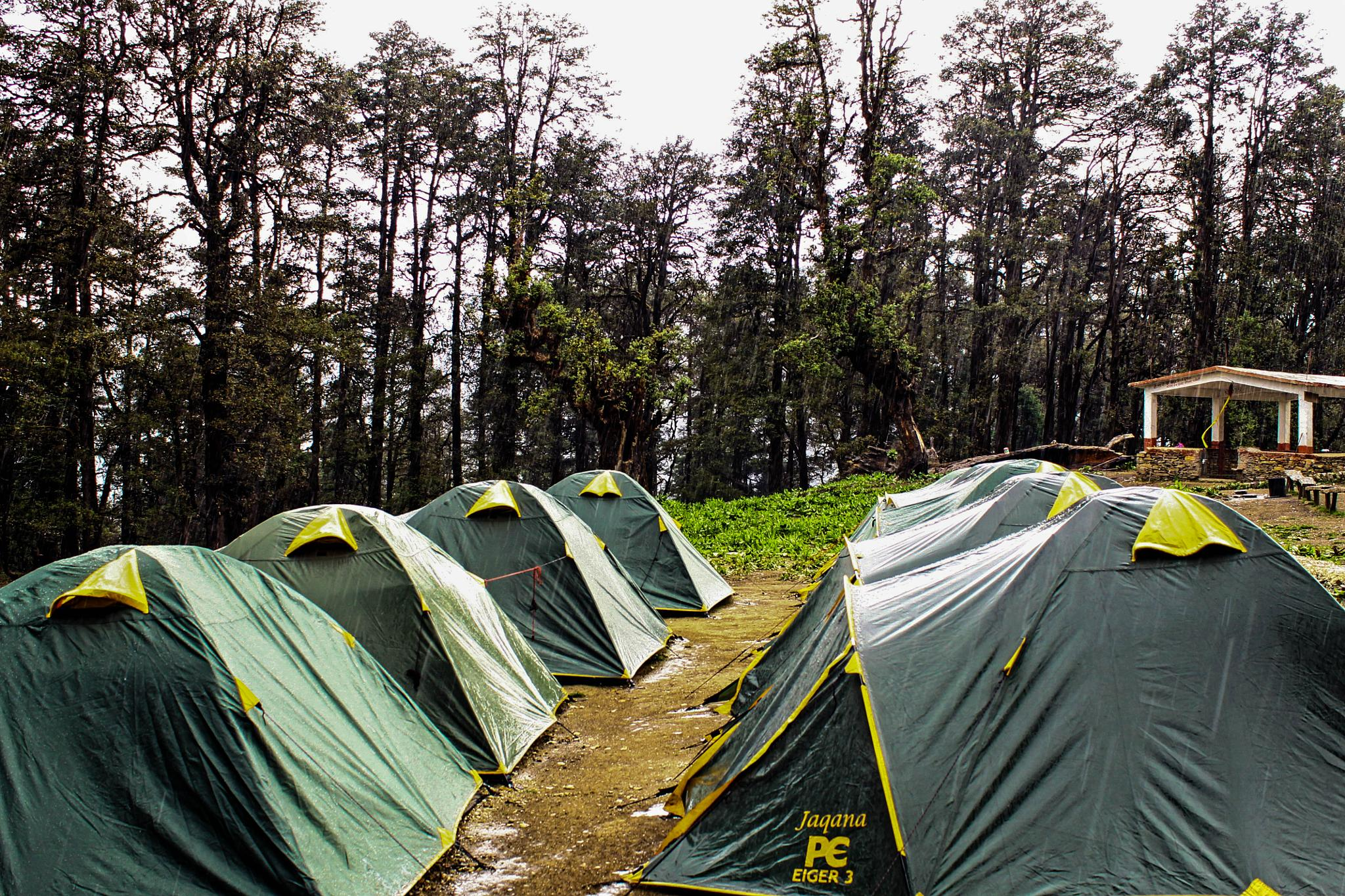 Rain at camp by ananthatejas