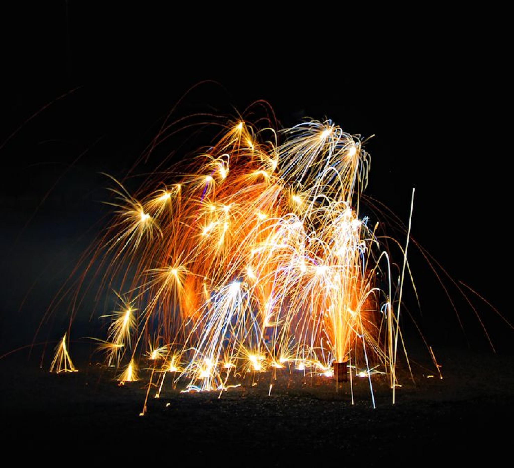 Street fireworks by Julie Gardner