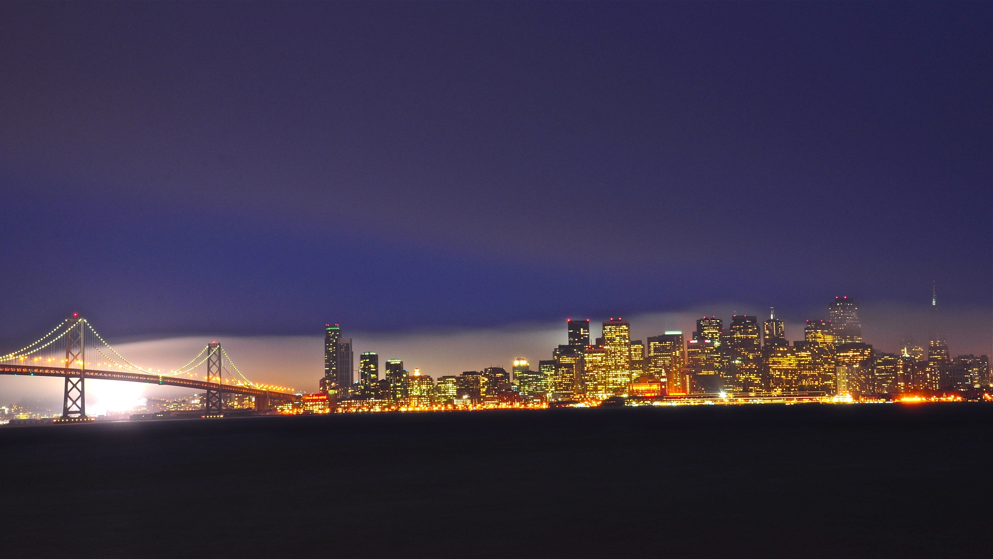 San Francisco night view by fjlian