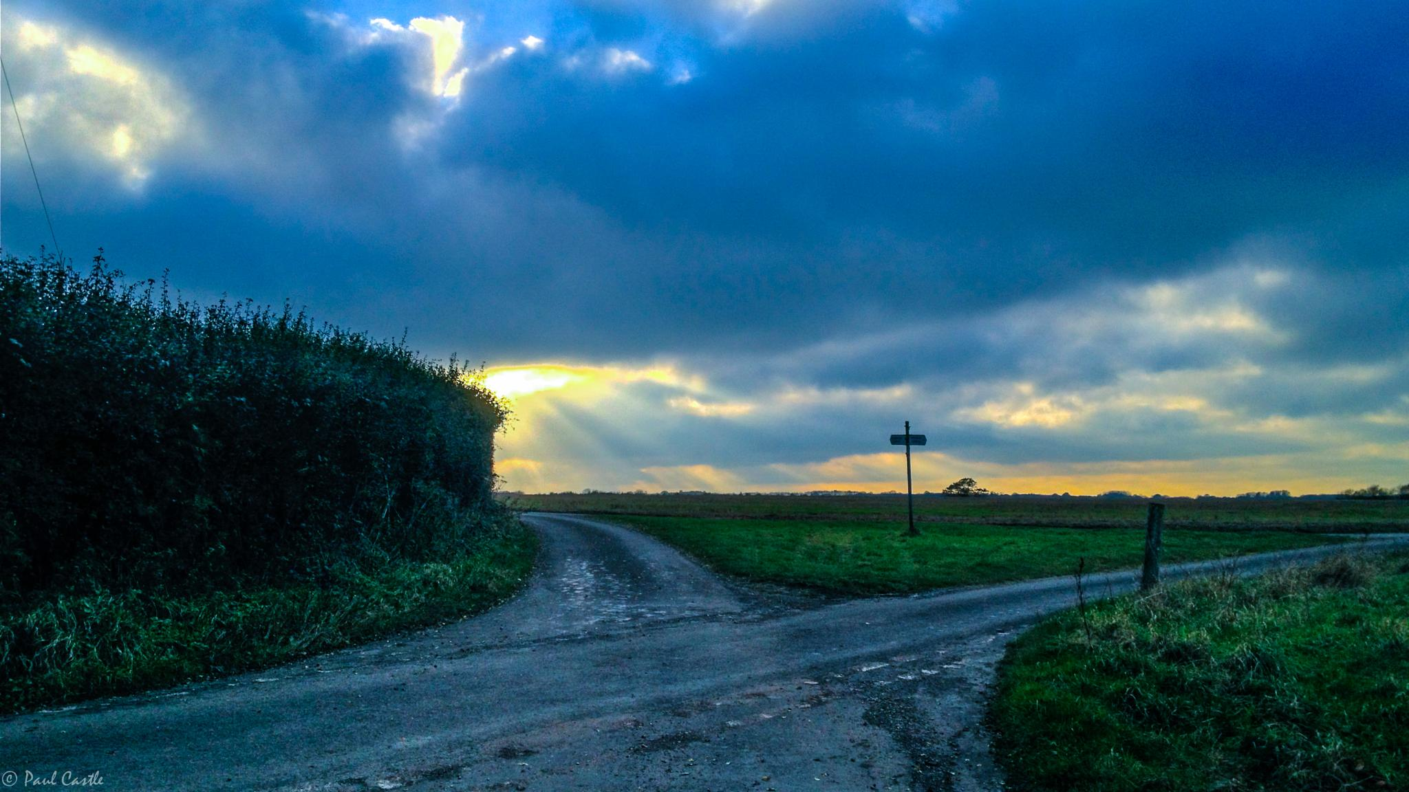 Sunset At The Crossroads by Paul Castle