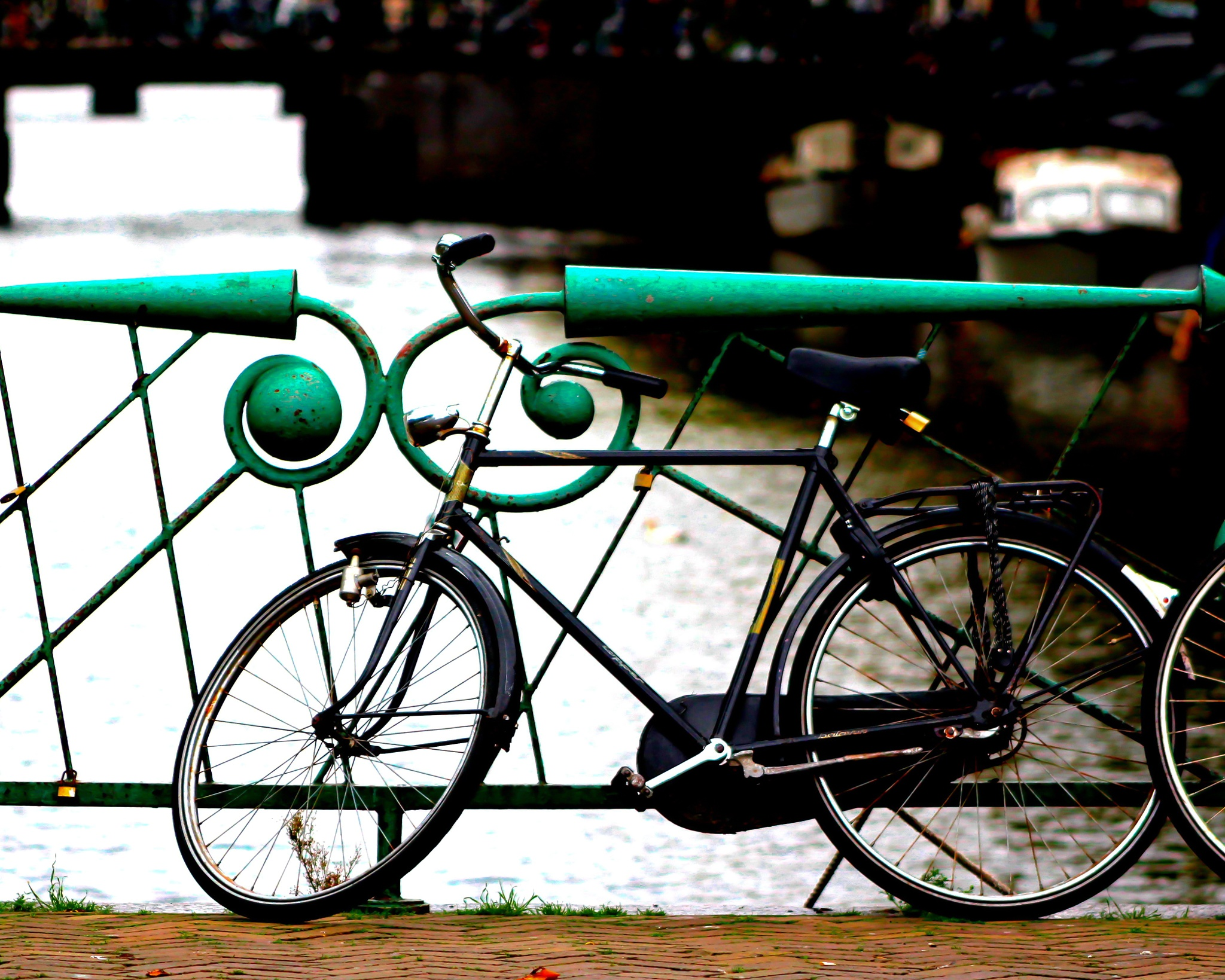 Amsterdam Blue Bicycle Green Bridge by MF - SyracuseLUX