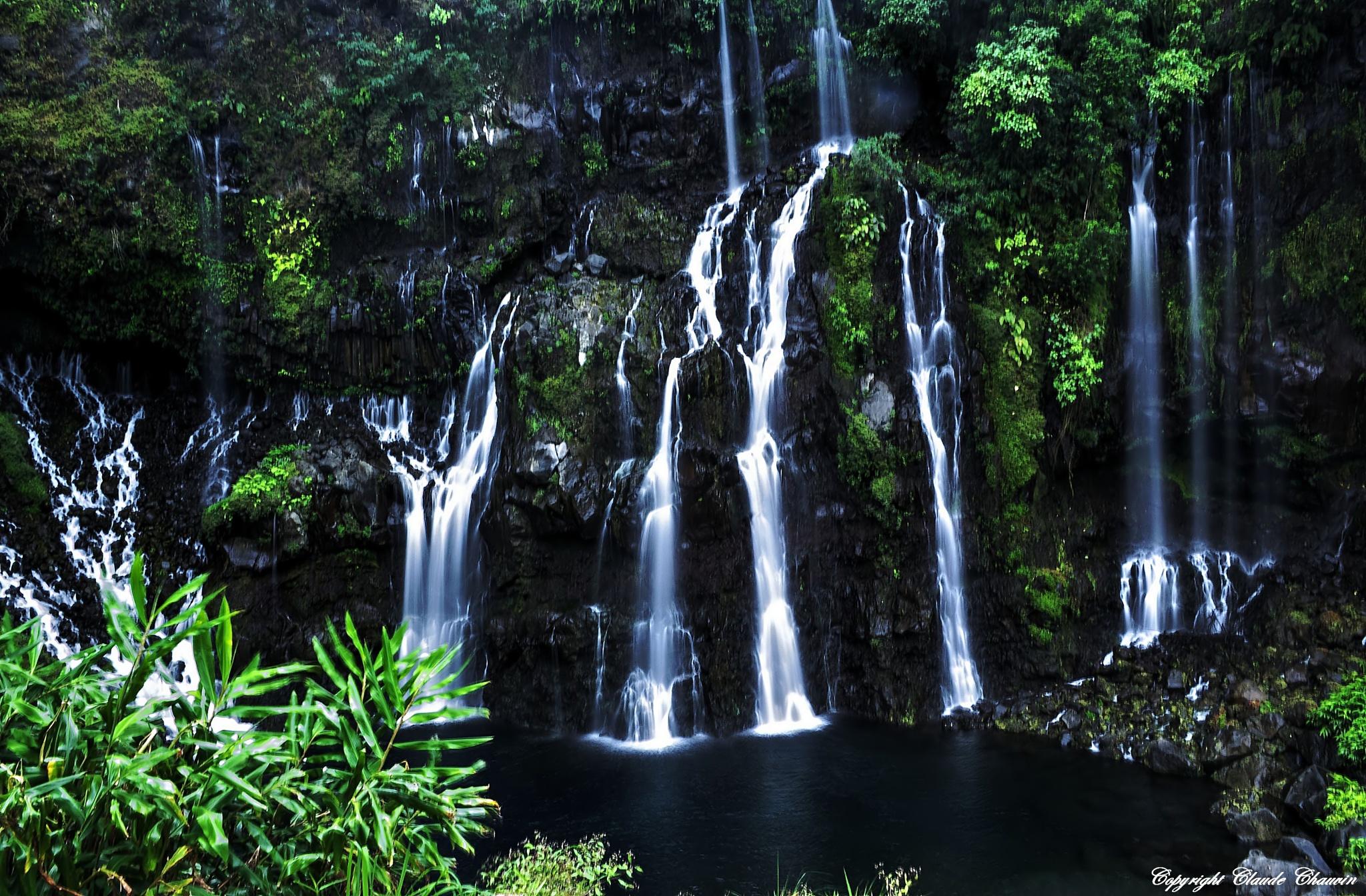 Blue Waterfall  by claudechauvin67