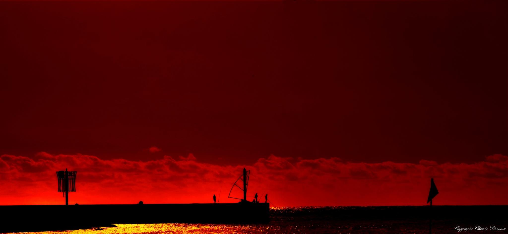 Sunset by claudechauvin67