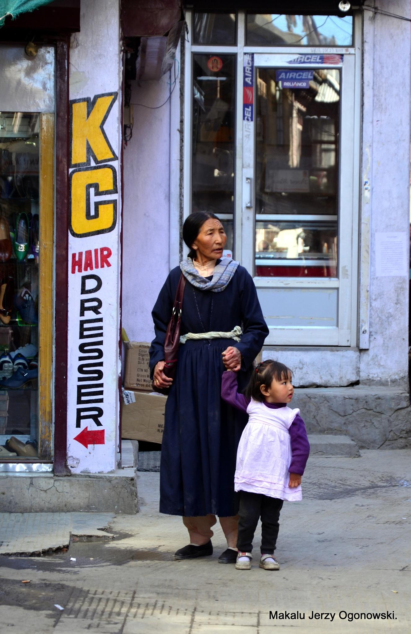 The streets of Leh.Ladakh.Western Tibet by Makalu Jerzy Ogonowski