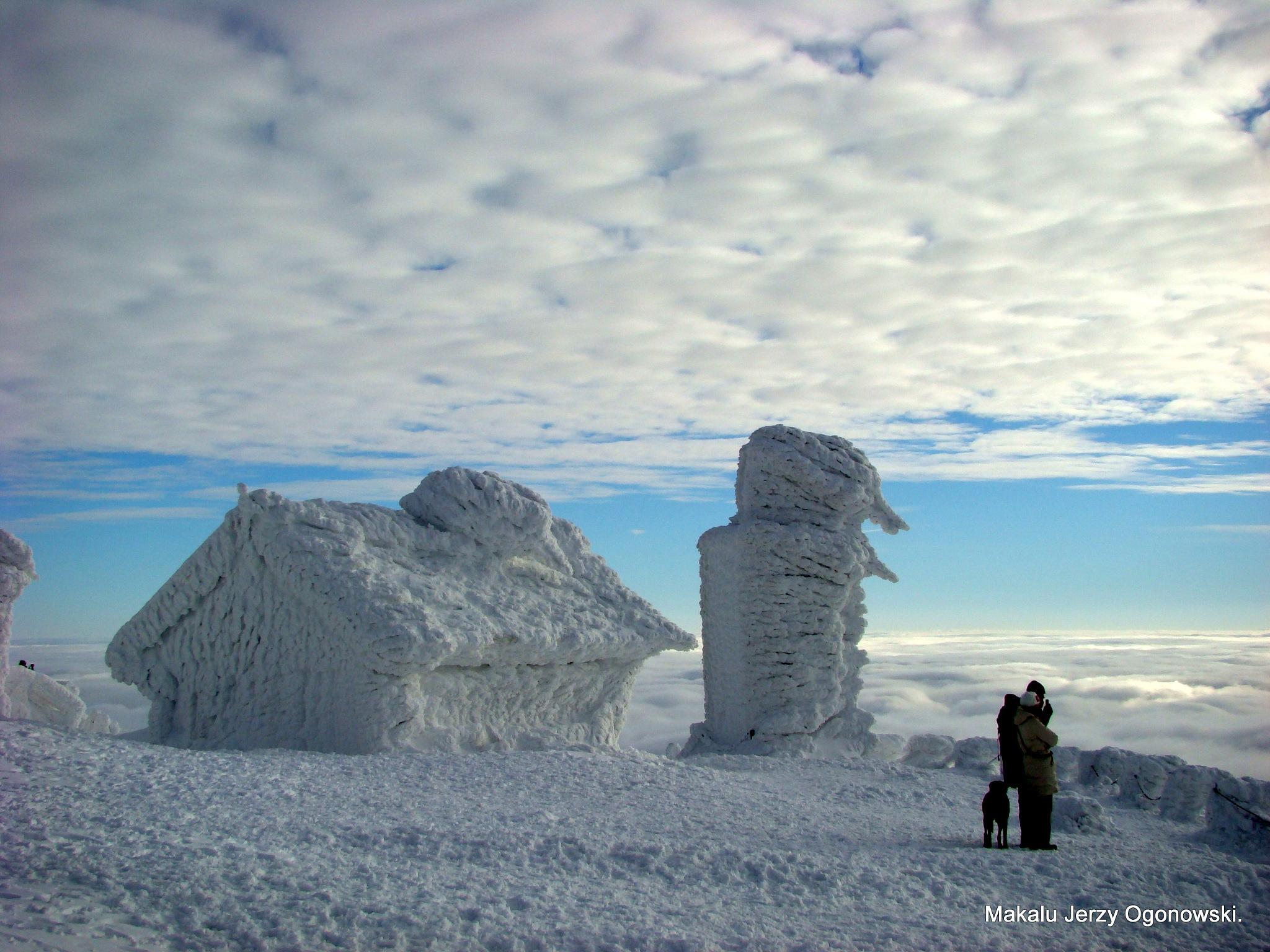 Mt.Śnieżka 1602m.Mountain Karkonosze.Border Poland -Czech Republic. by Makalu Jerzy Ogonowski