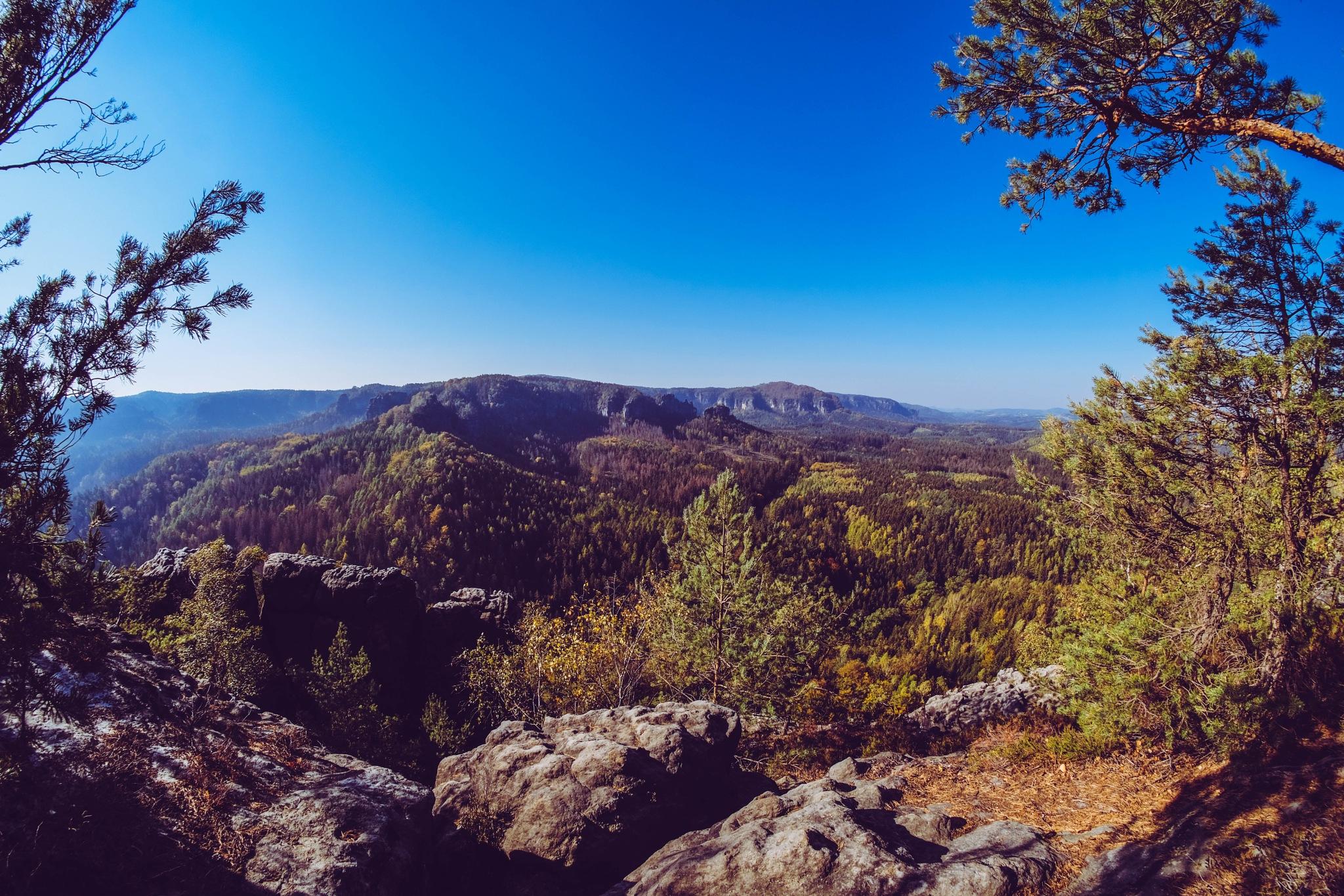 Blick vom Teichstein by henryvonda