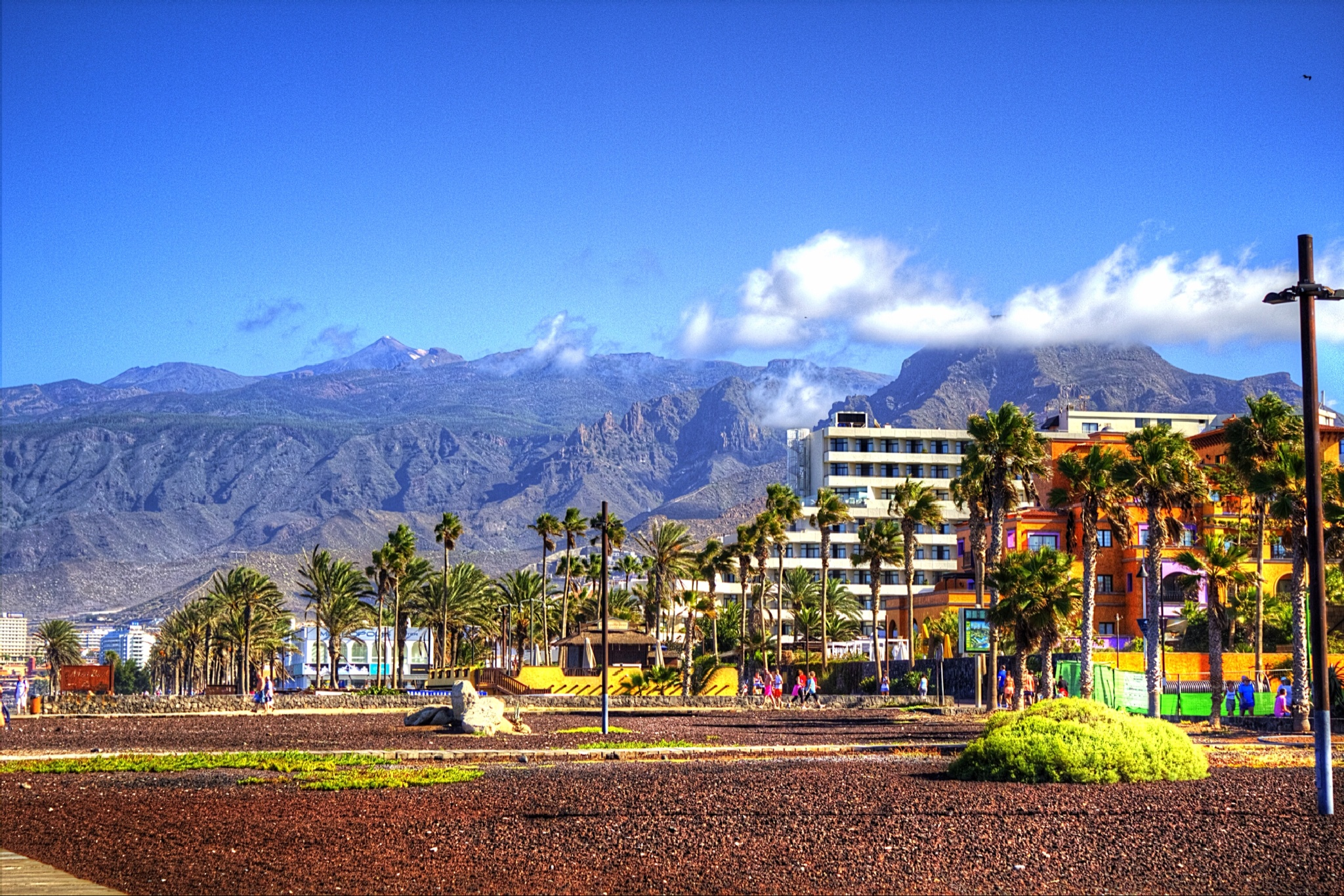 Mount Teide from the beach by barterfletcher