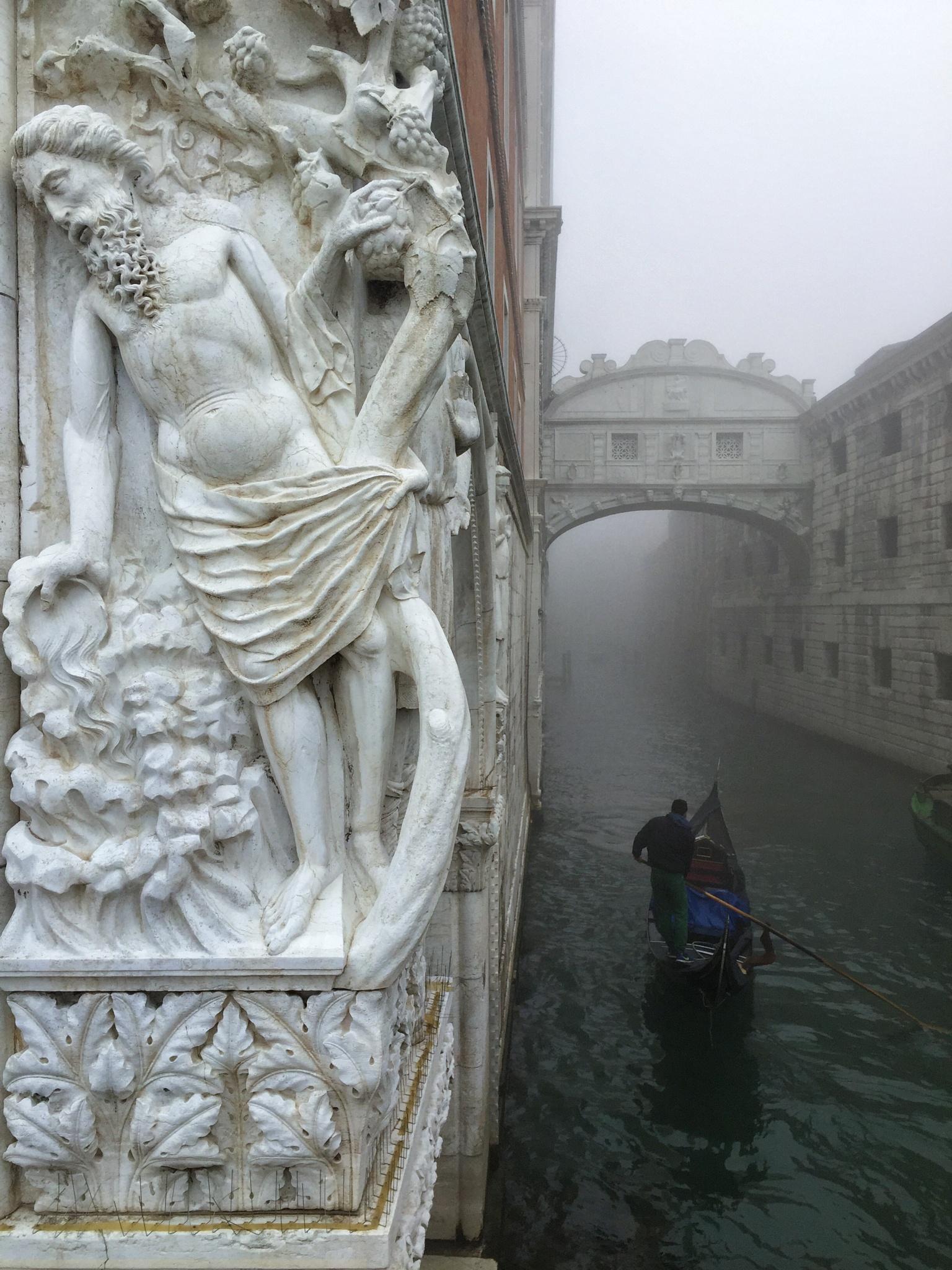 Venezia in the fog by jozseftoth