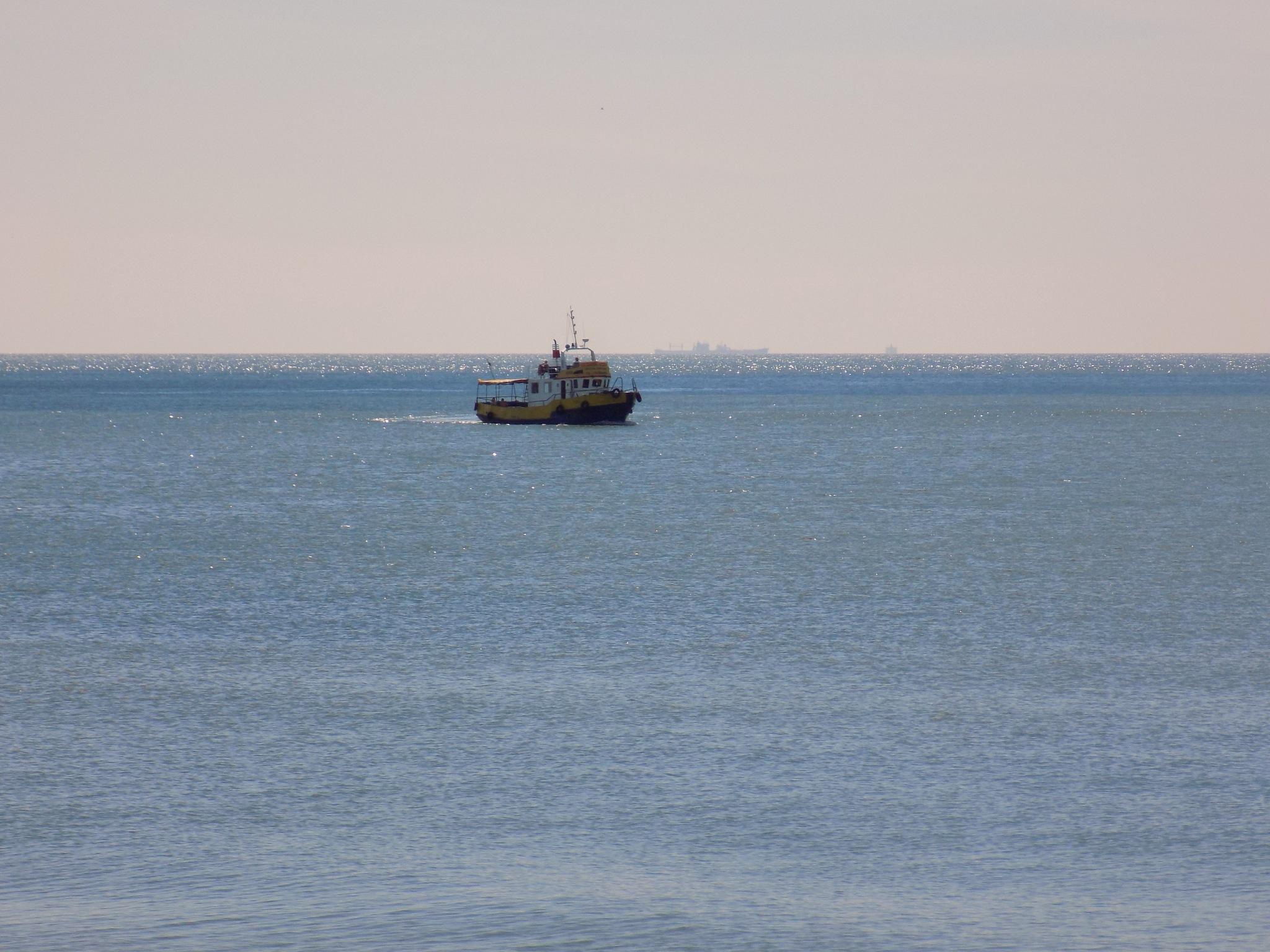 Boat at sea by uzkuraitiene62