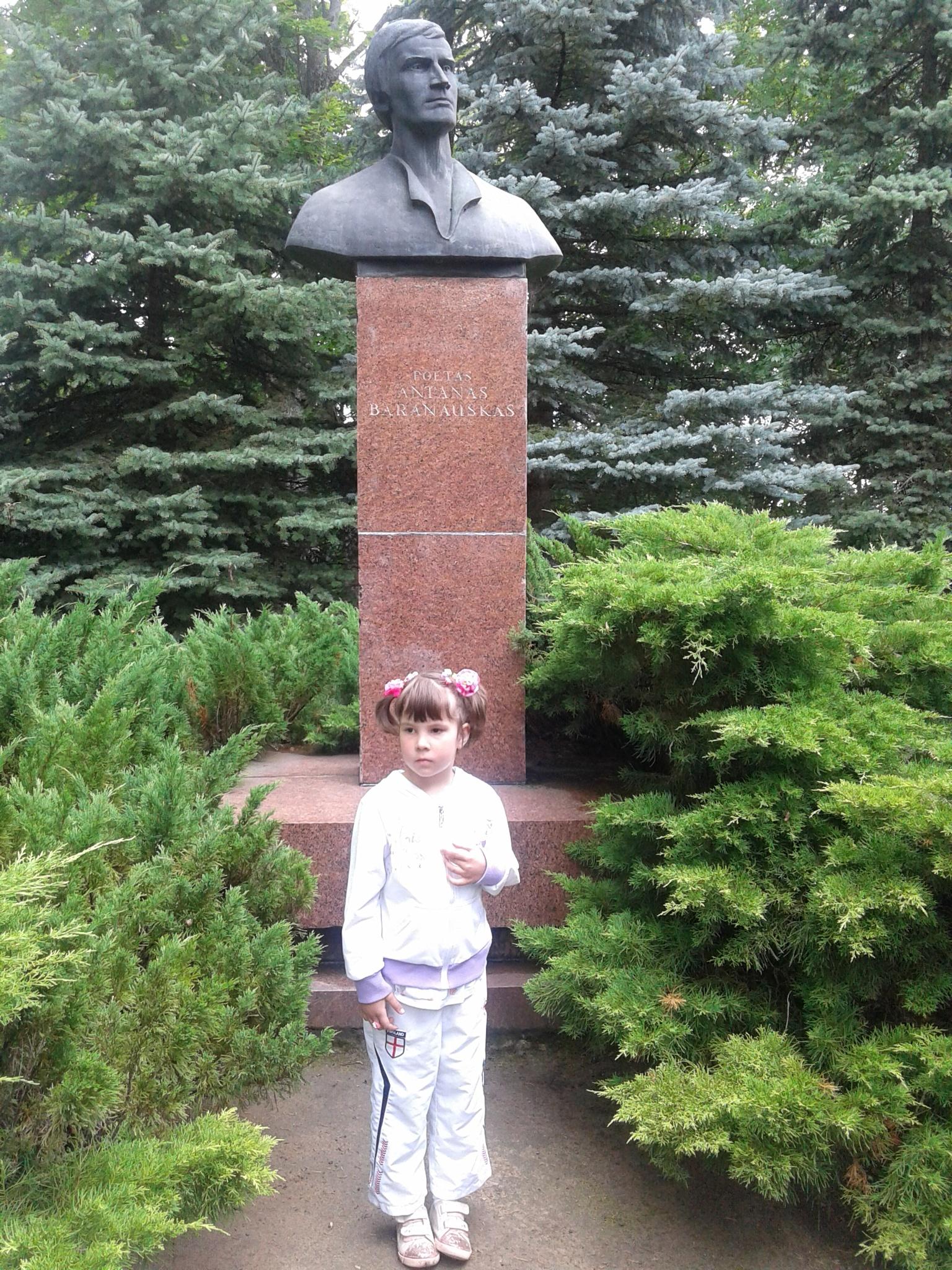 Monument  to the writer Antanas Baranauskas by uzkuraitiene62