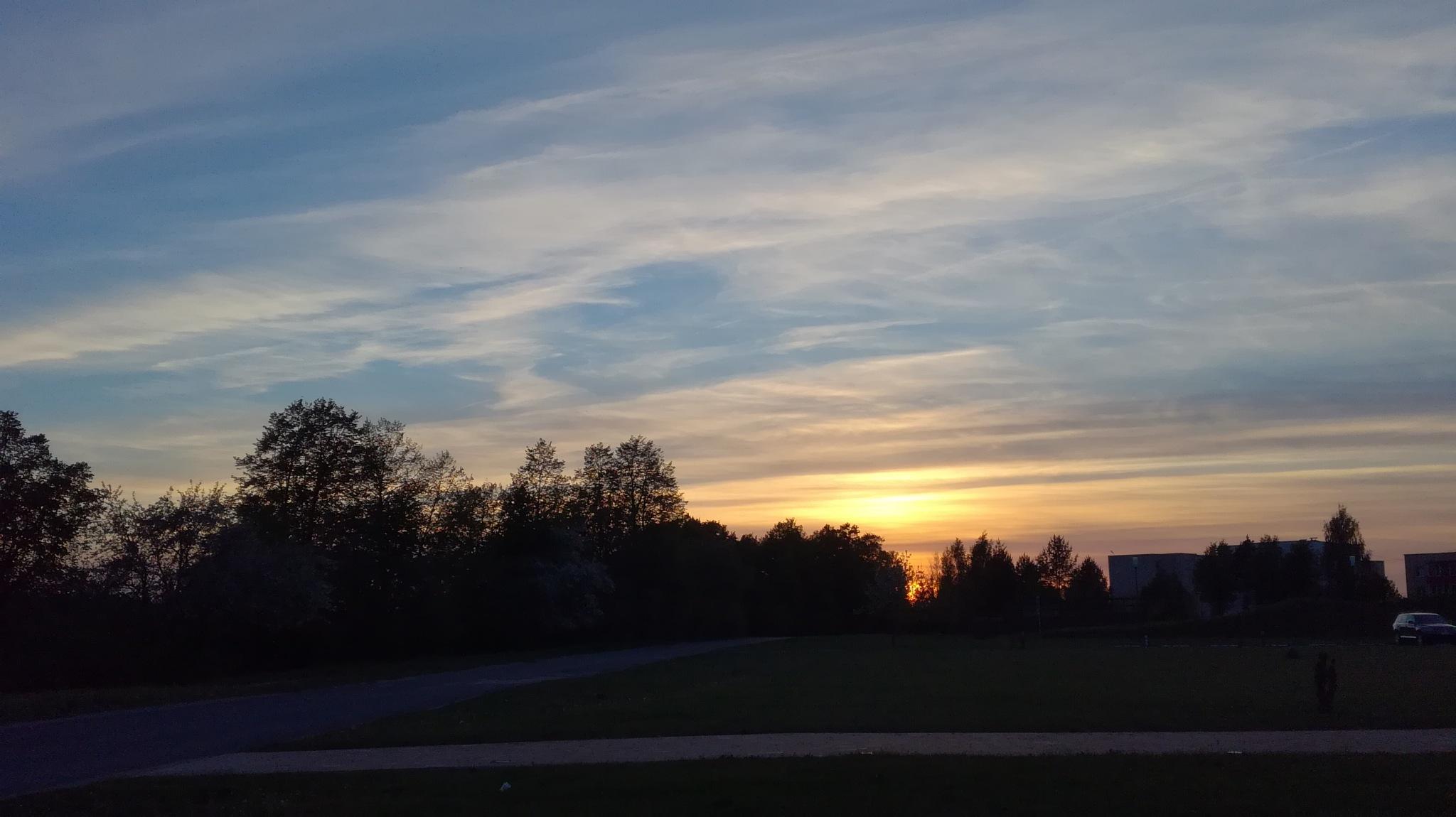 Sky in evening by uzkuraitiene62