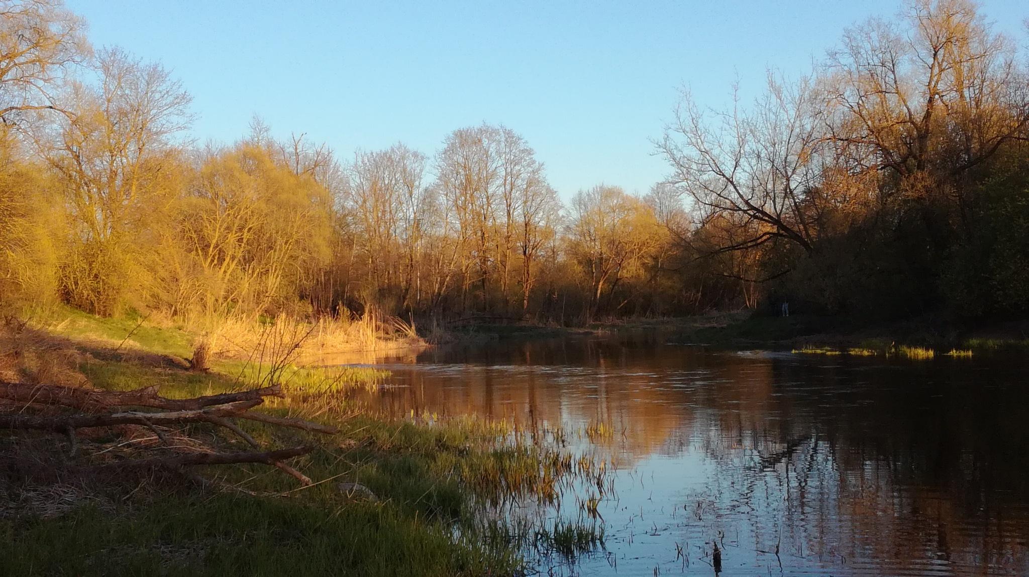 River in the spring evening by uzkuraitiene62