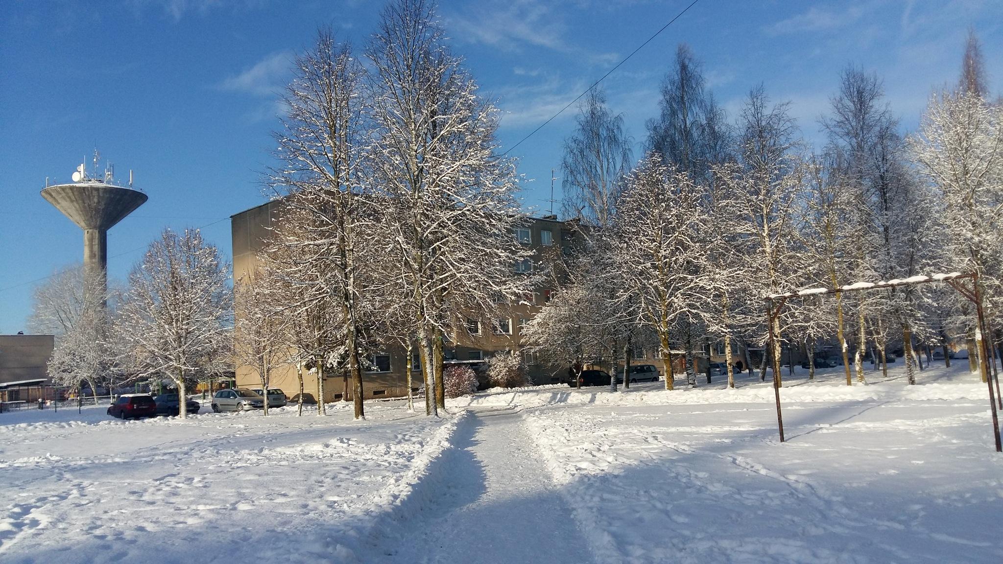 Winter in my city by uzkuraitiene62