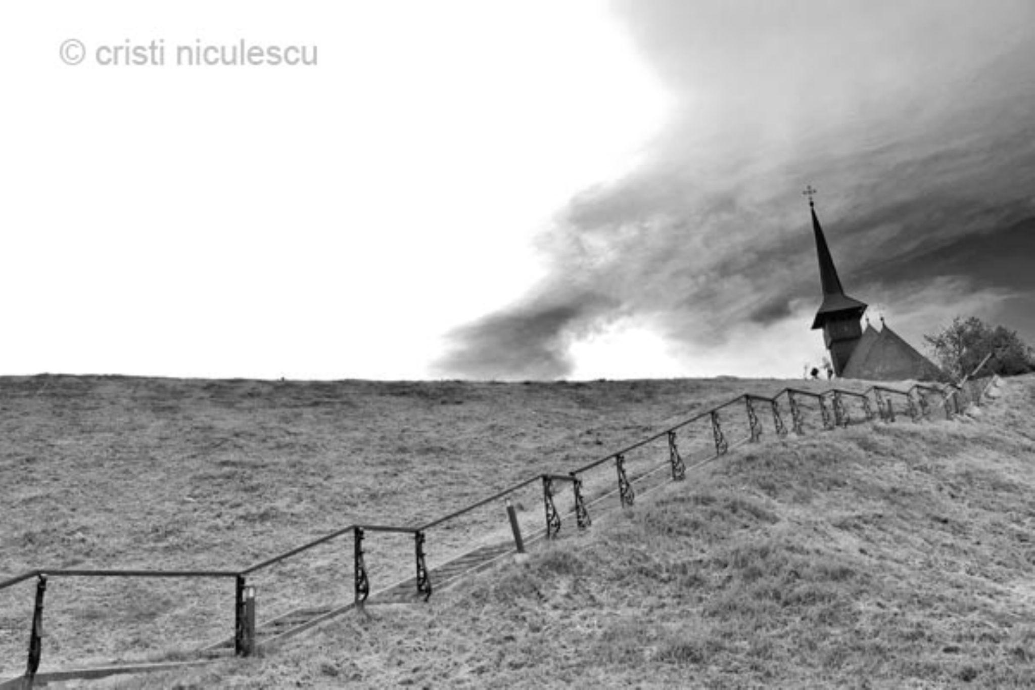 Leaning Church by Cristi Niculescu