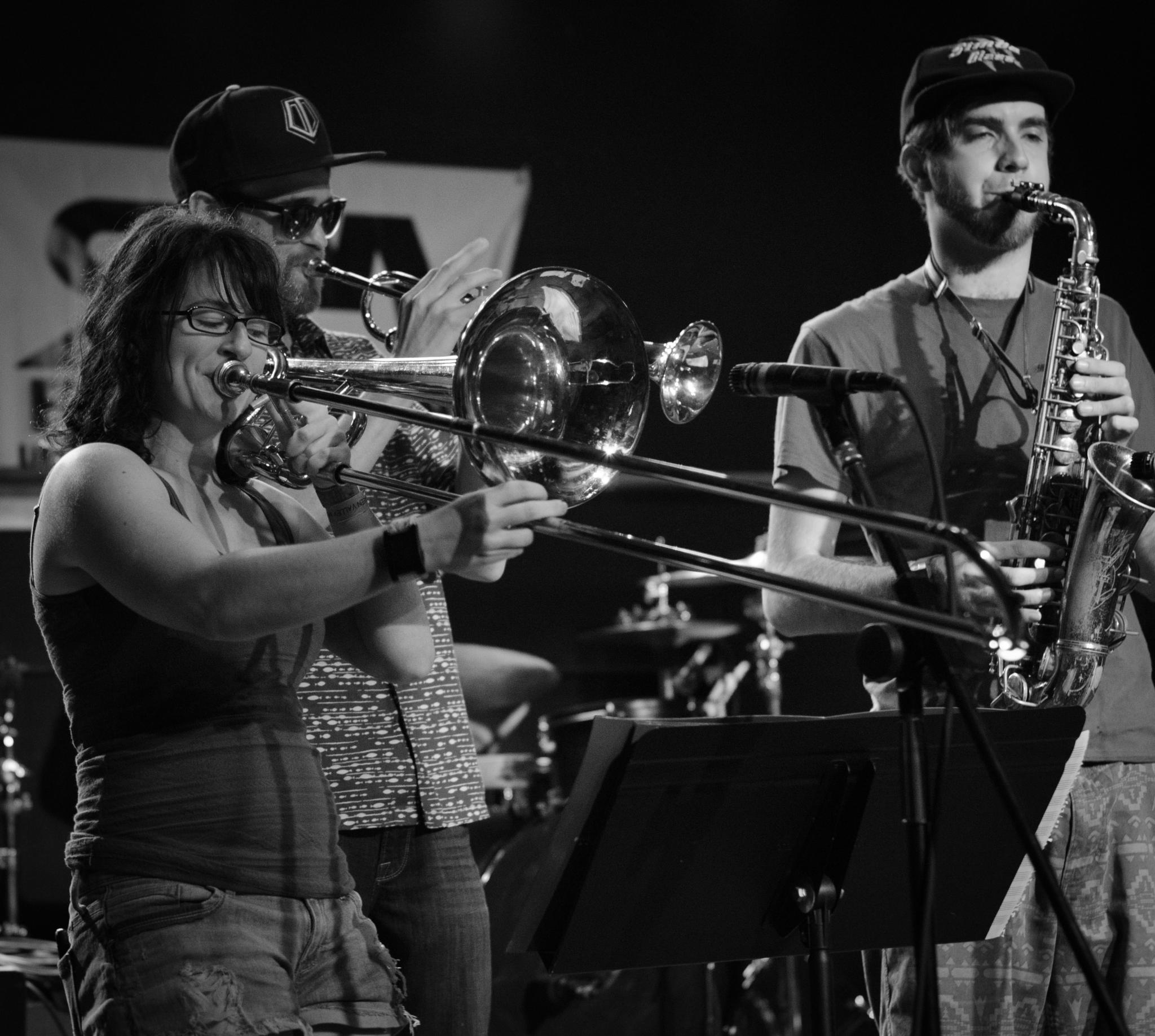 Free Thought Takeover Horn Section by Stevie Williams