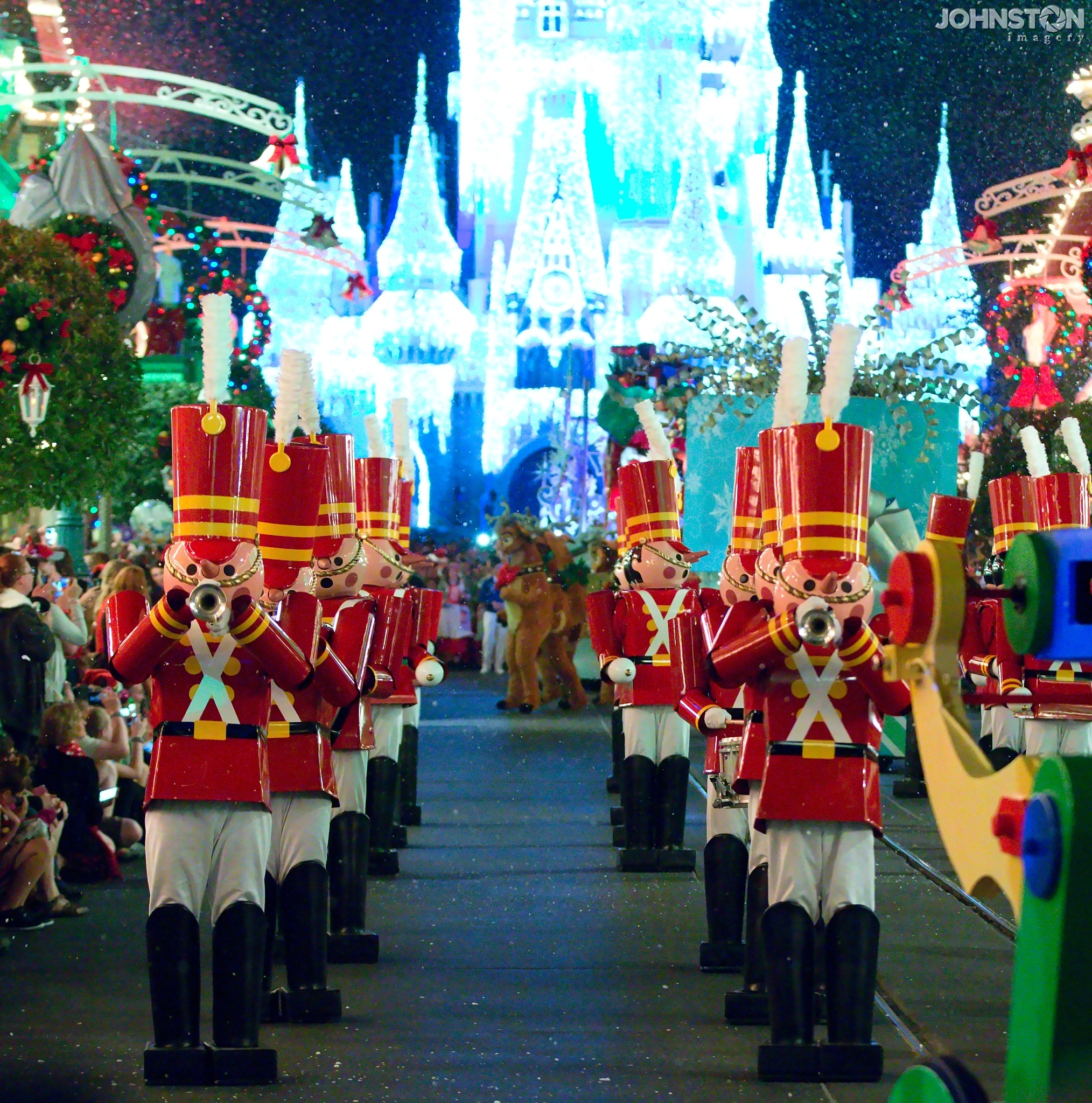 Toy Soldiers in Magic Kingdom's night time Christmas Parade by Mark Johnston