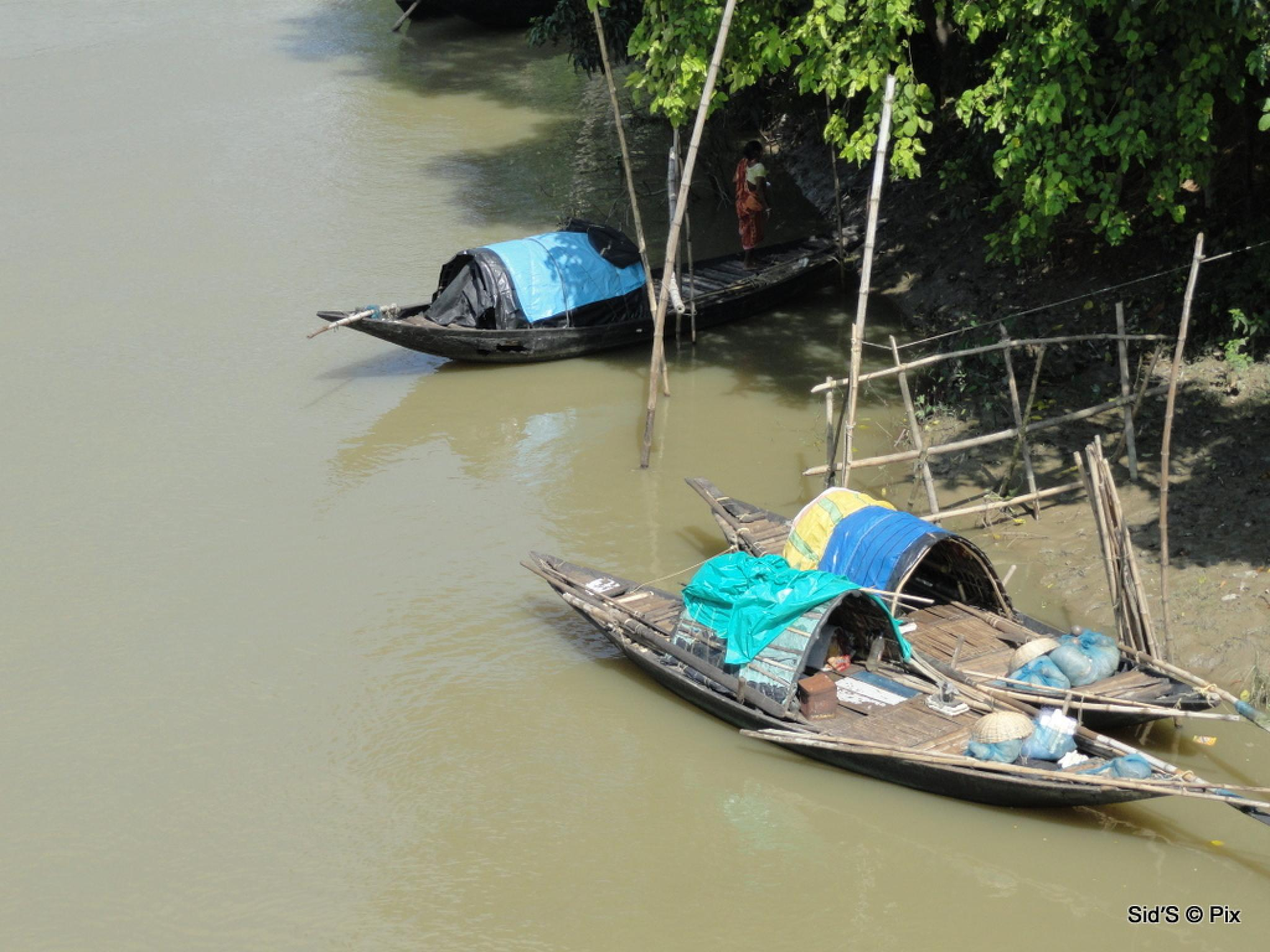 Photo in Rural #boats #river #village