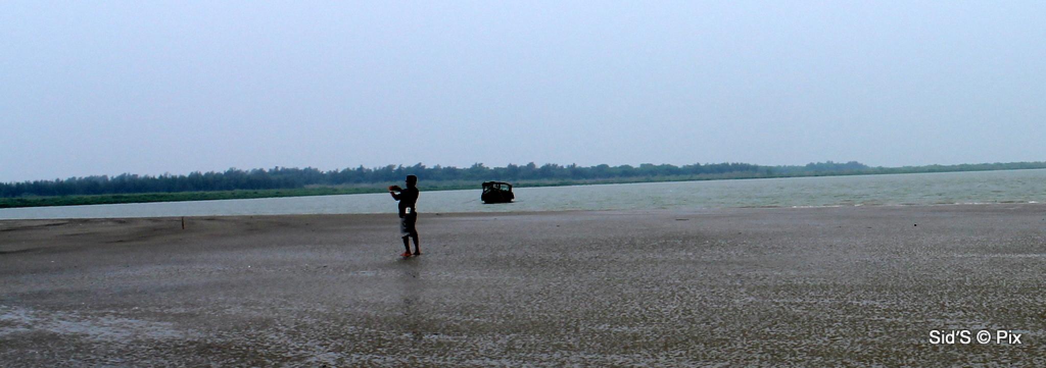 Man on a Sand Bar by Siddharth Sanyal