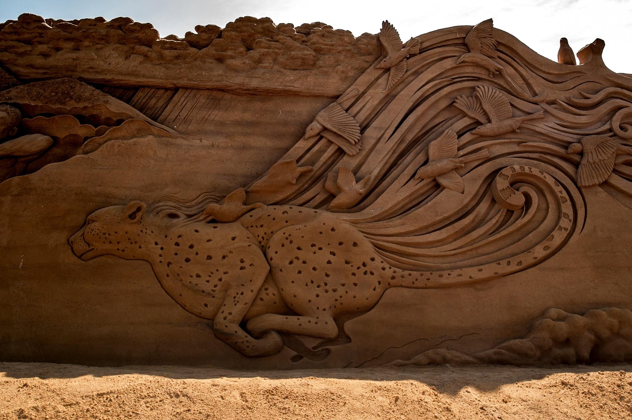 Cheetah running like the wind by Steen Skov