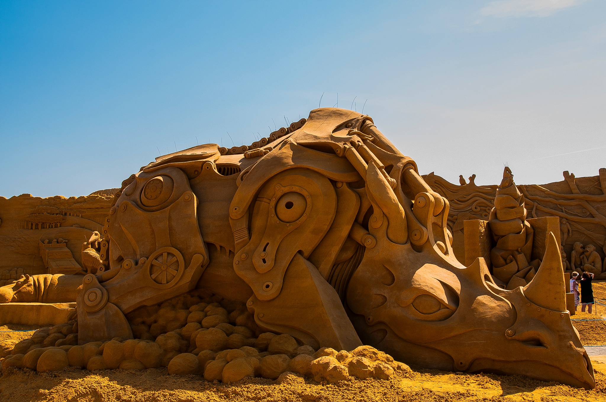 Photo in Sea and Sand #mech #rhino #sandsculpture #festival #2016 #søndervig