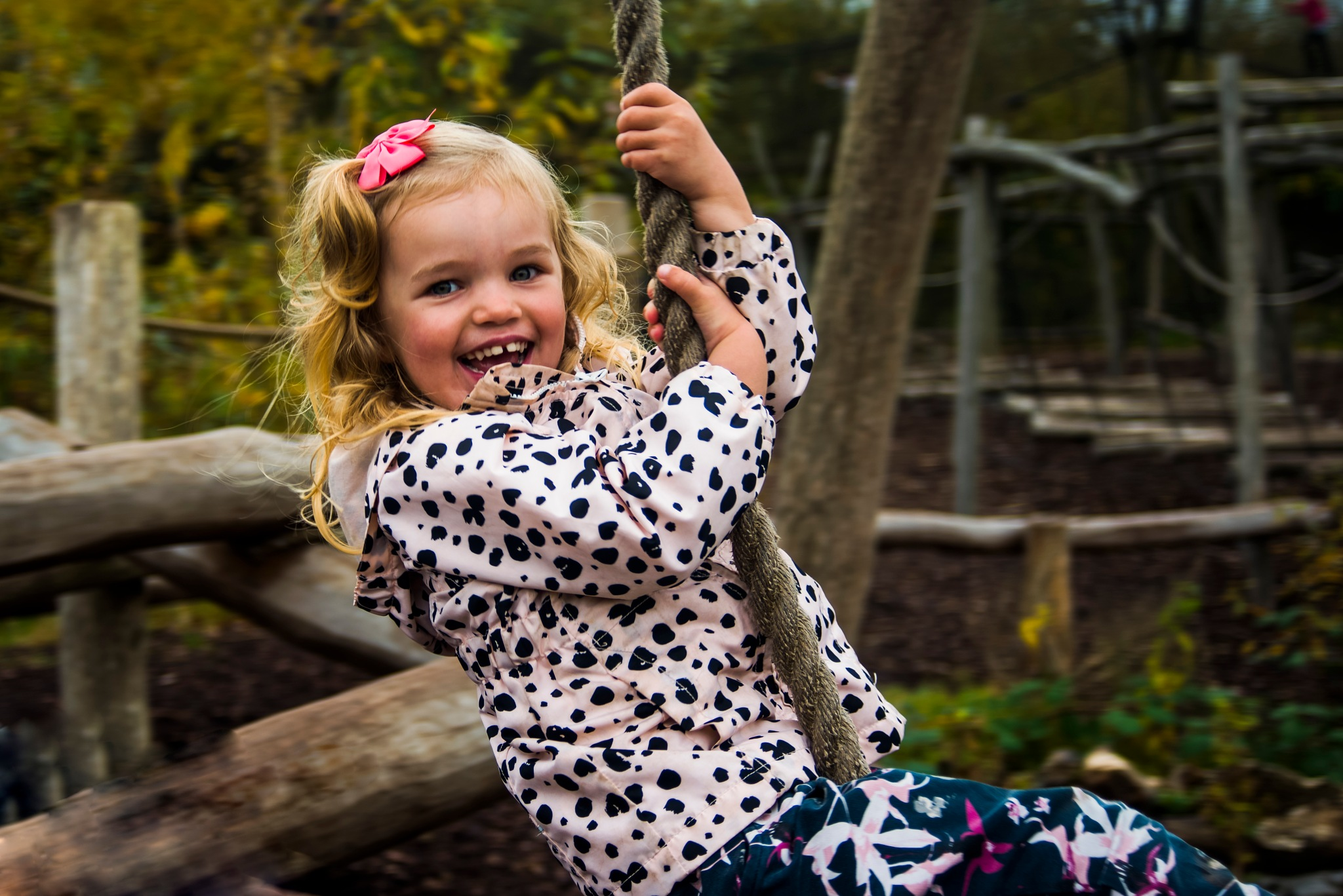 Sofia on a swing by Steen Skov