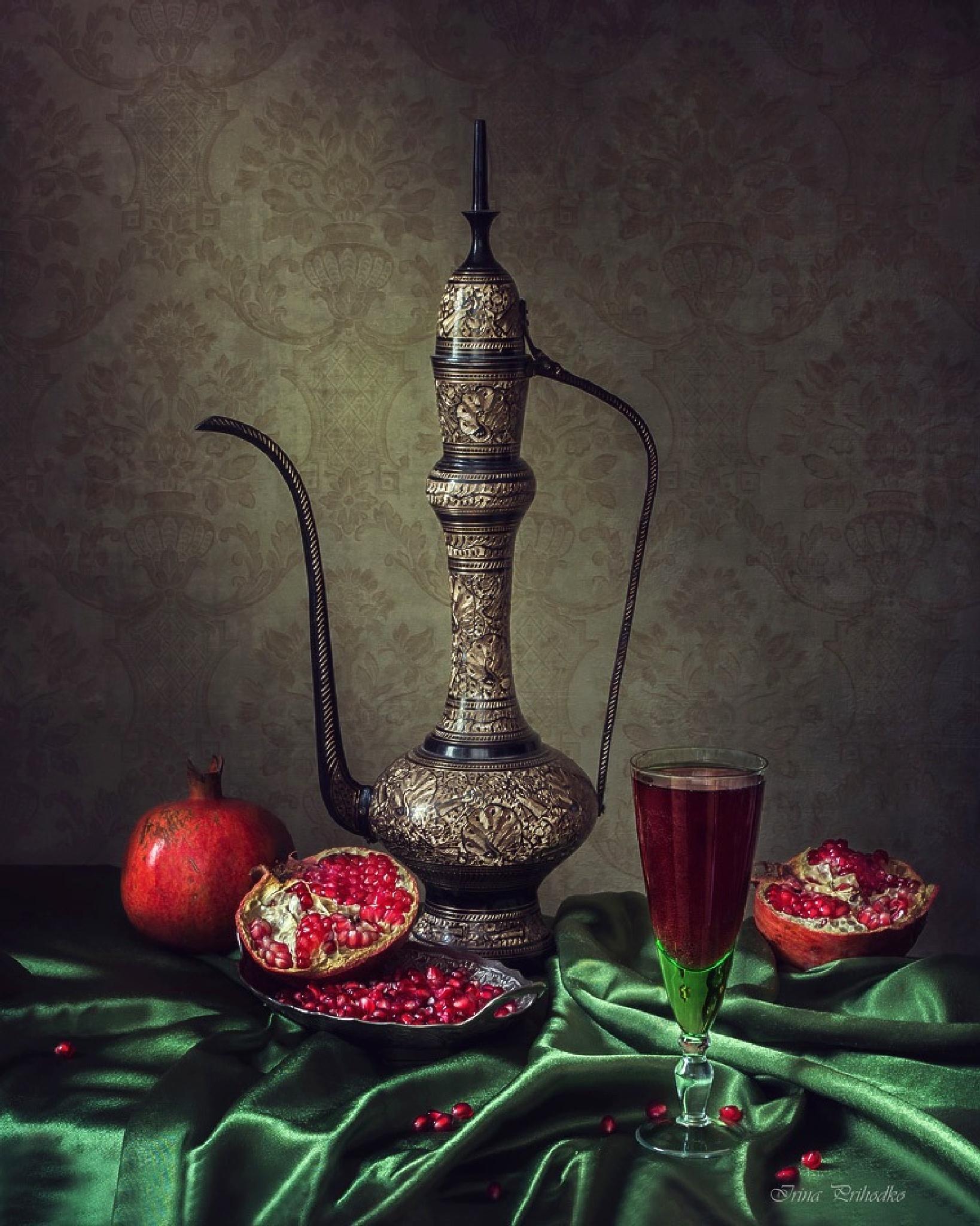 With pomegranate juice by Prikhodko Irina