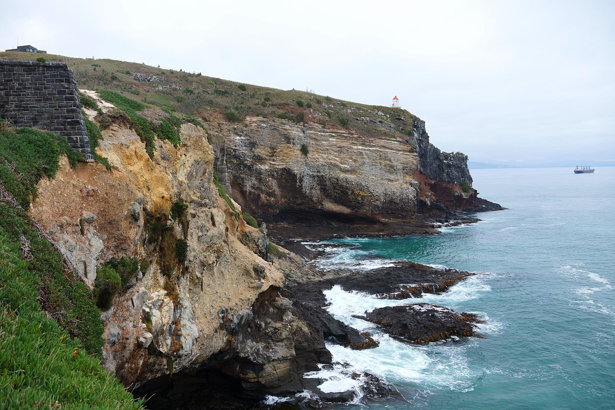 Photo in Landscape #coastline #rocks #cliff #ship #lighthouse #ocean