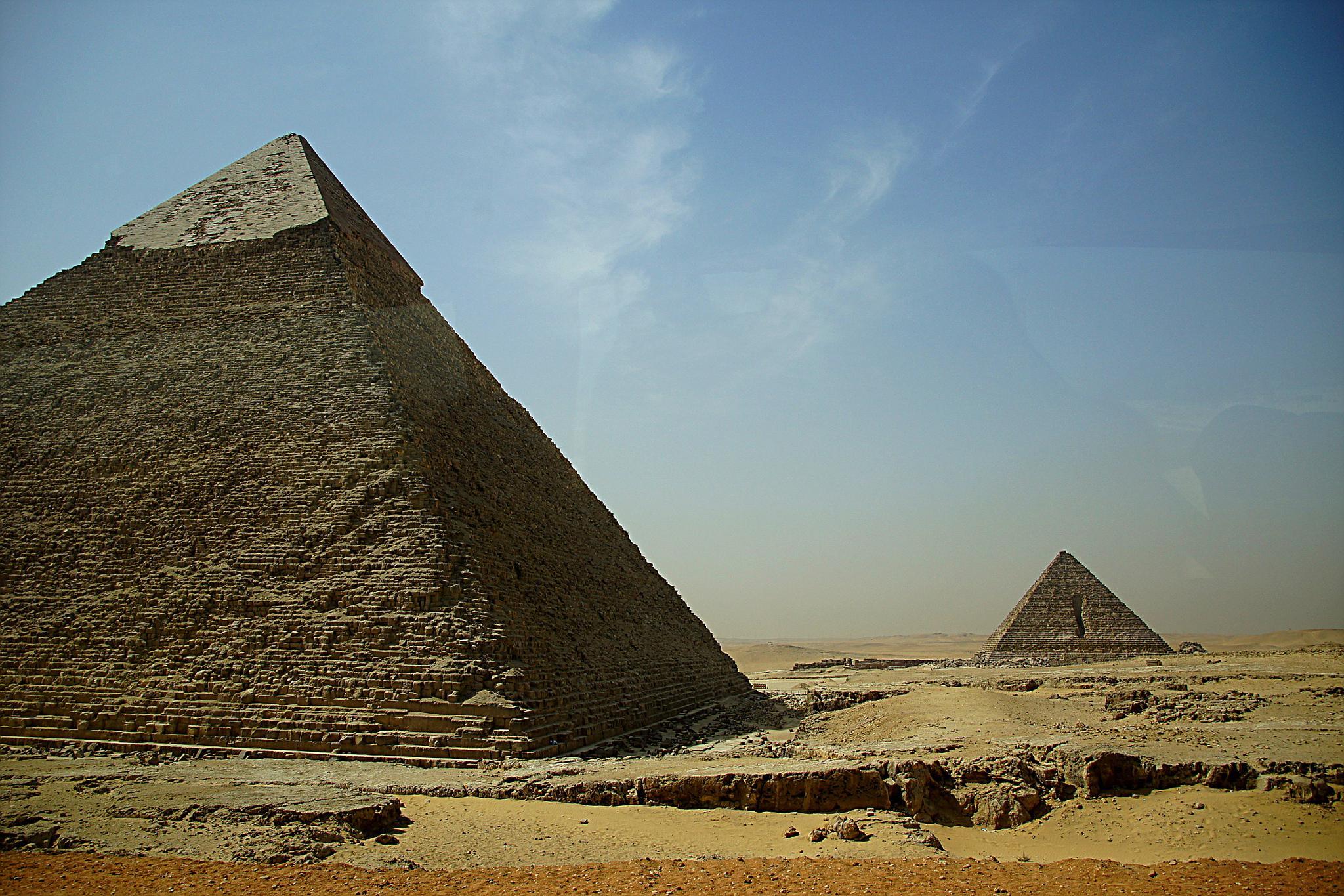 Photo in Landscape #pyramids #sand #rocks #cloud #blue sky