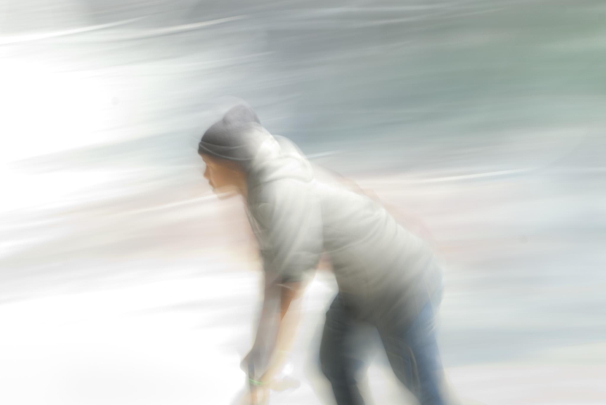 A Skater as a Blur by Richard Rykard