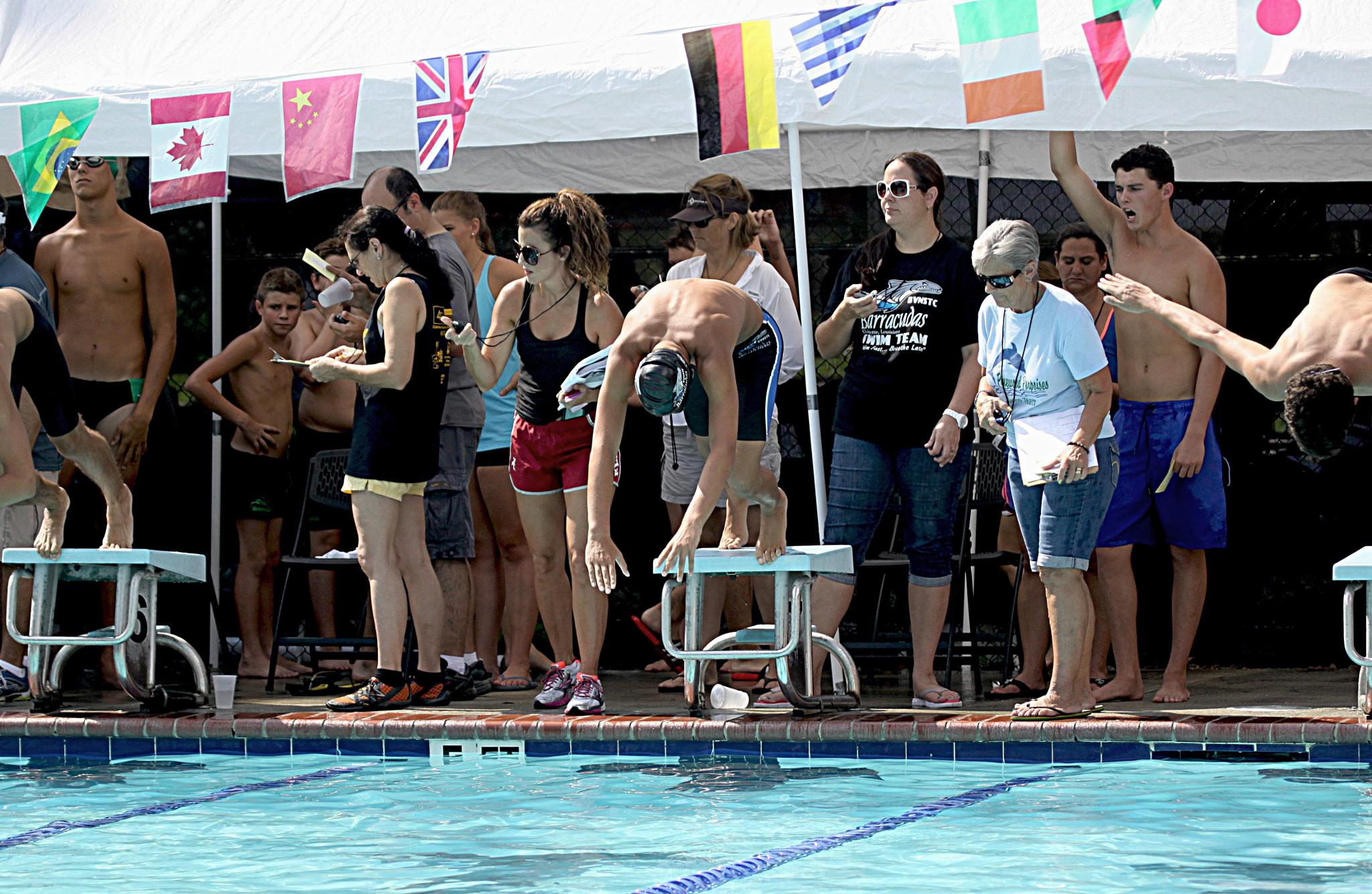 Busy,Busy at the swim meet by mitchellsunday53