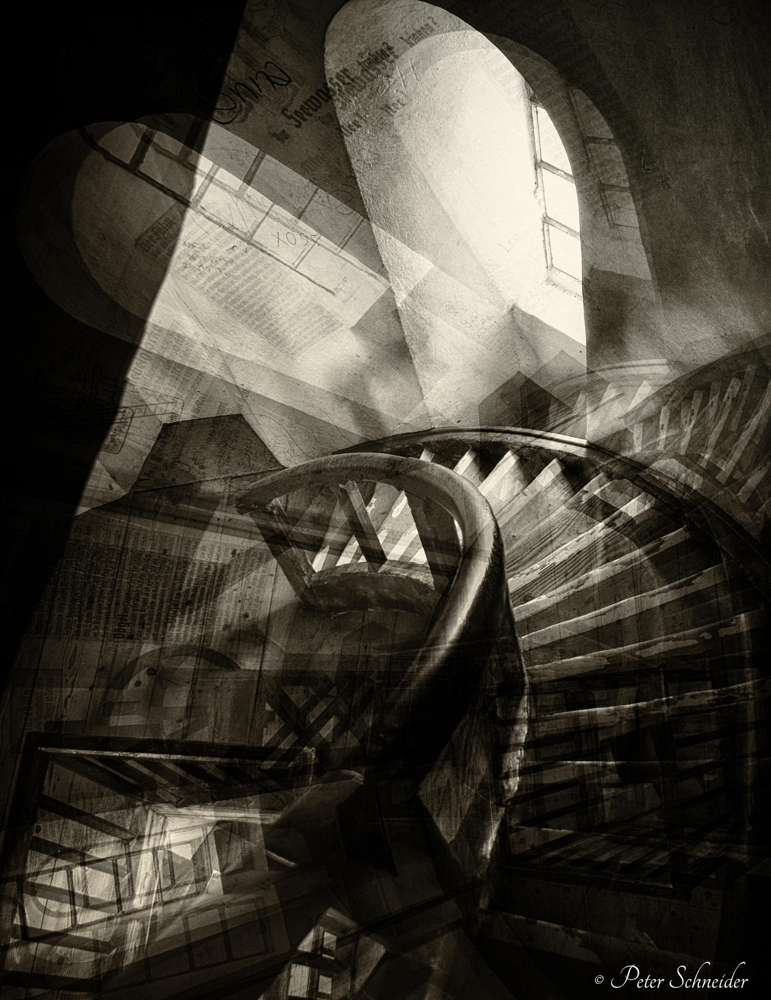 The stairs. by  Peter Schneider