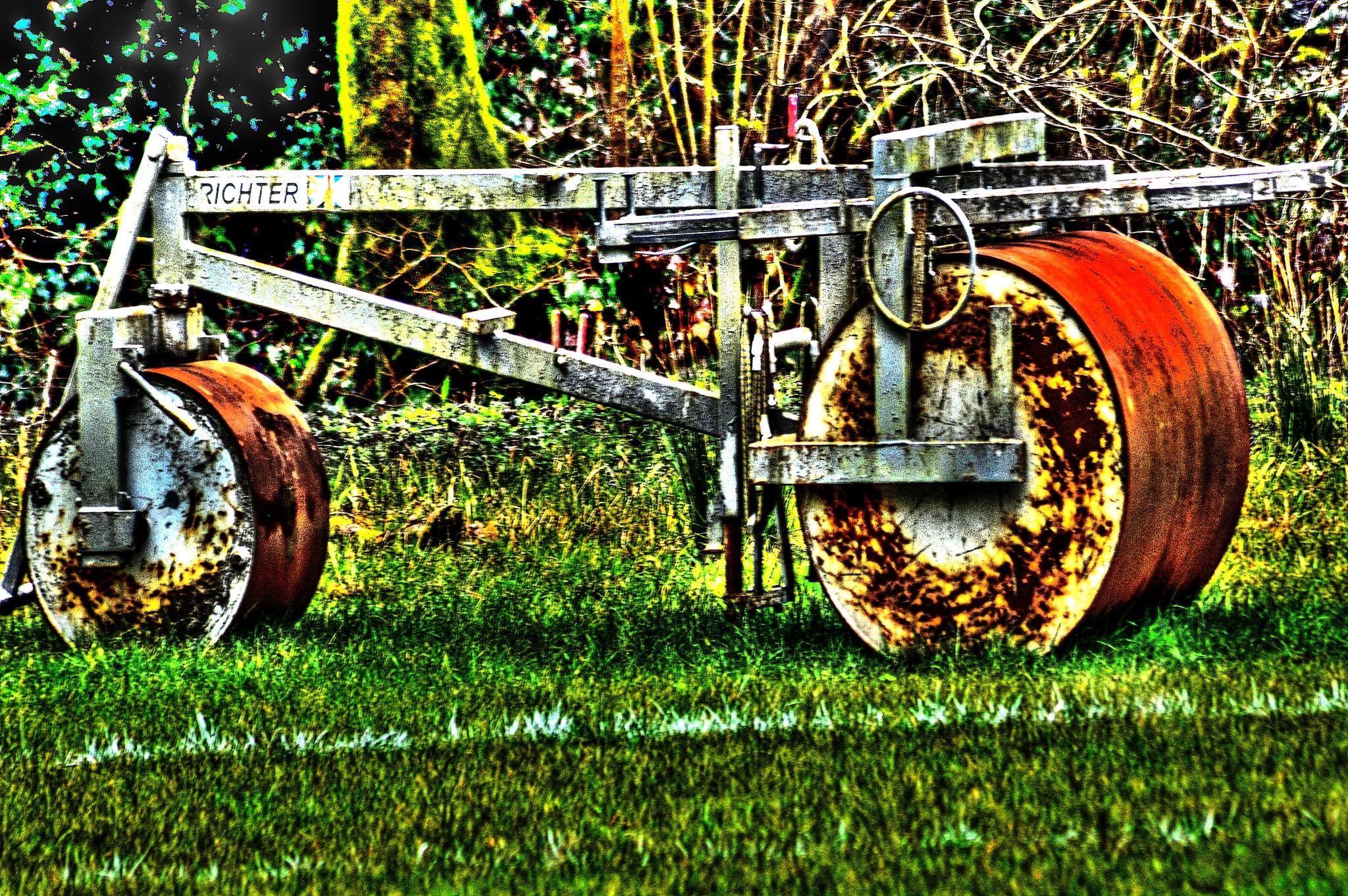 Grass rolling machine by dew1961cap