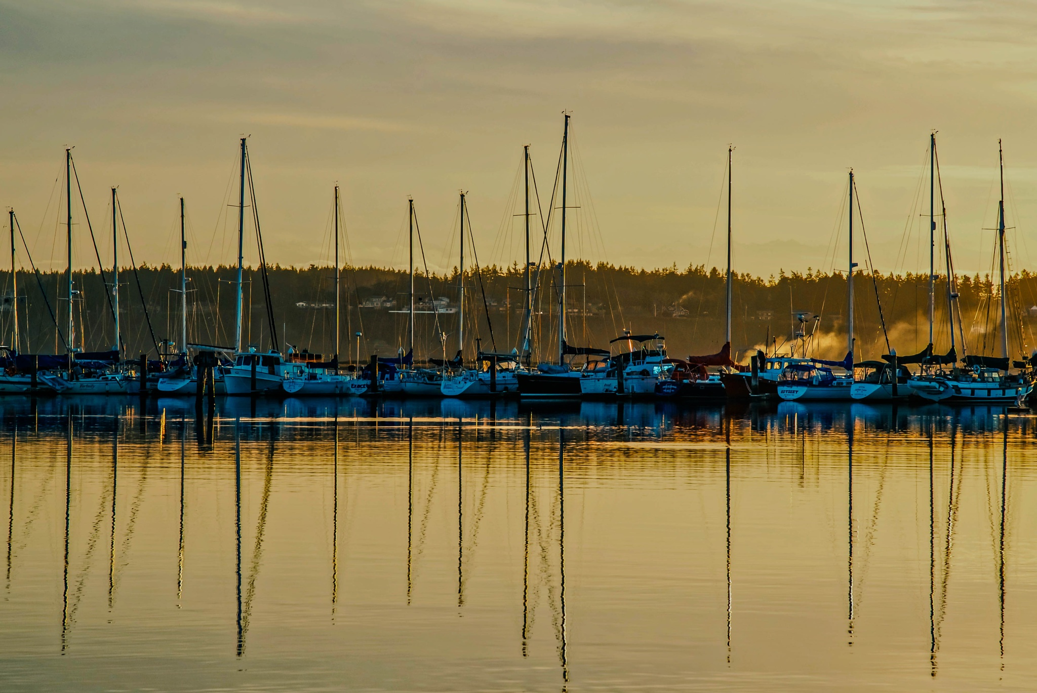 sunset reflection by MTM