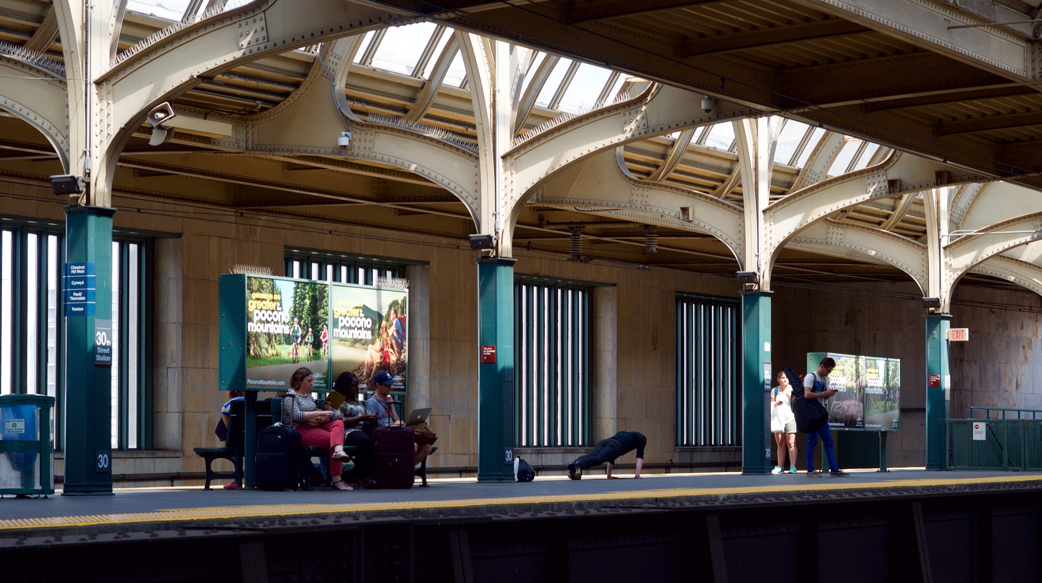 waiting for train ride by MTM