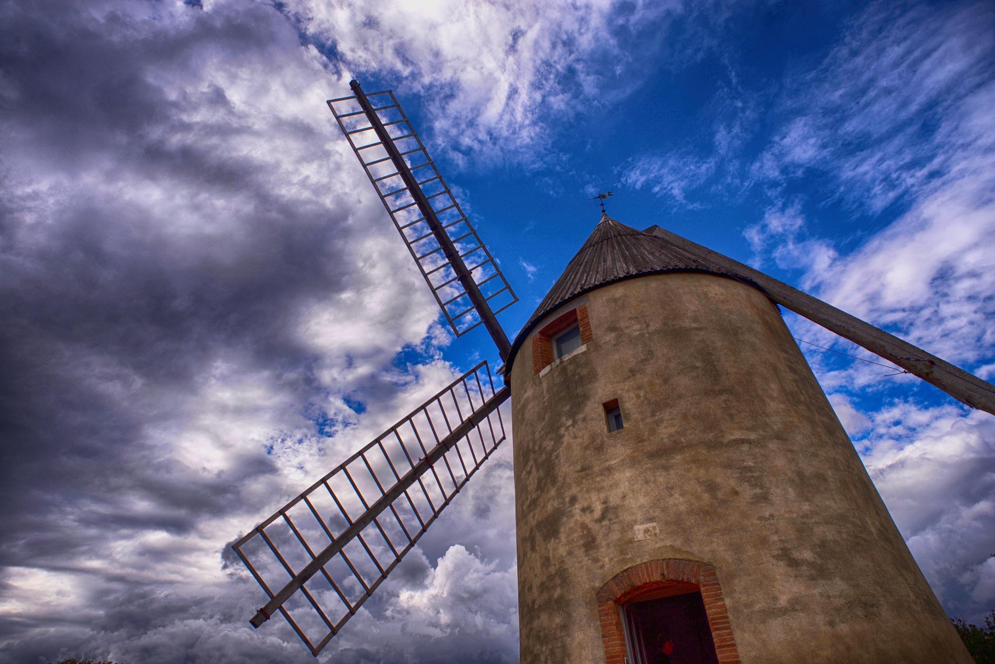 Windmill. by Lydie Burgunder