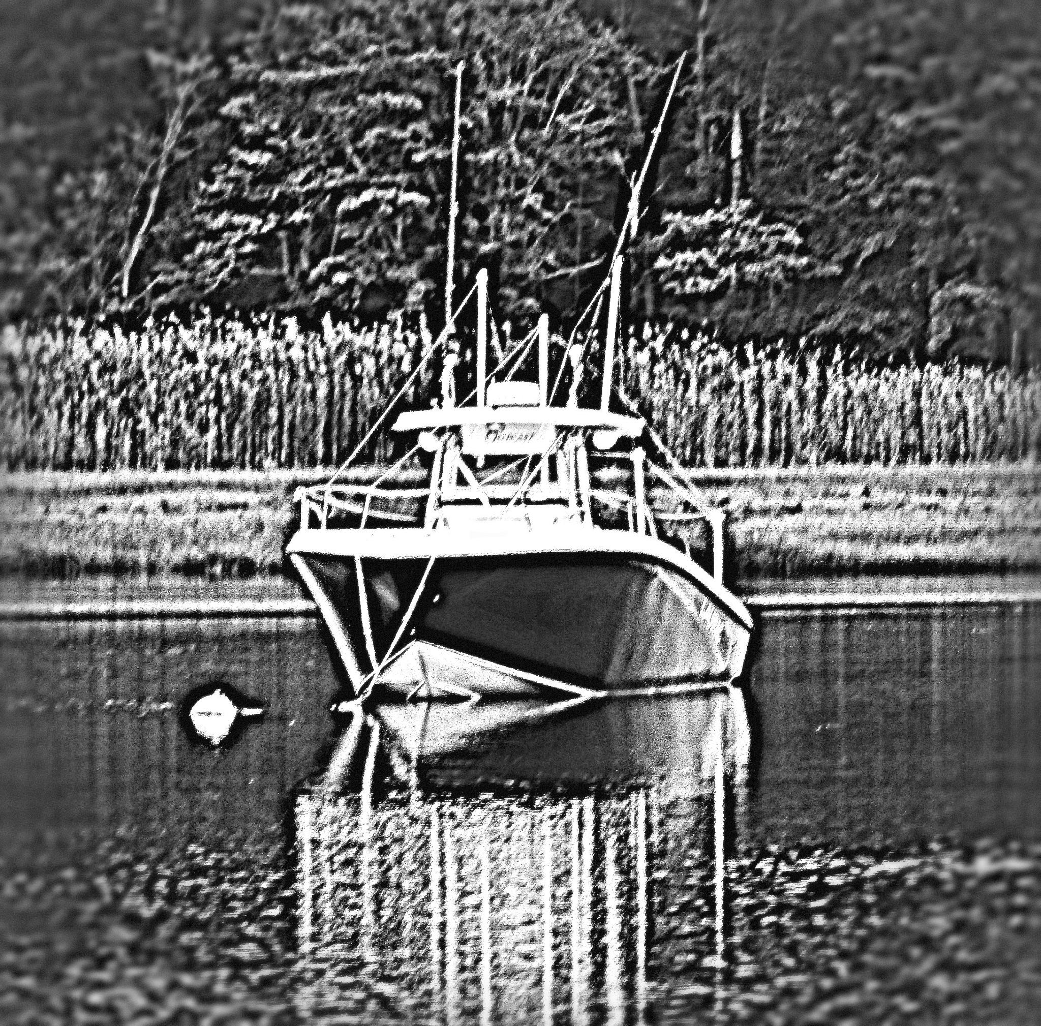 boat on the water  by Teri