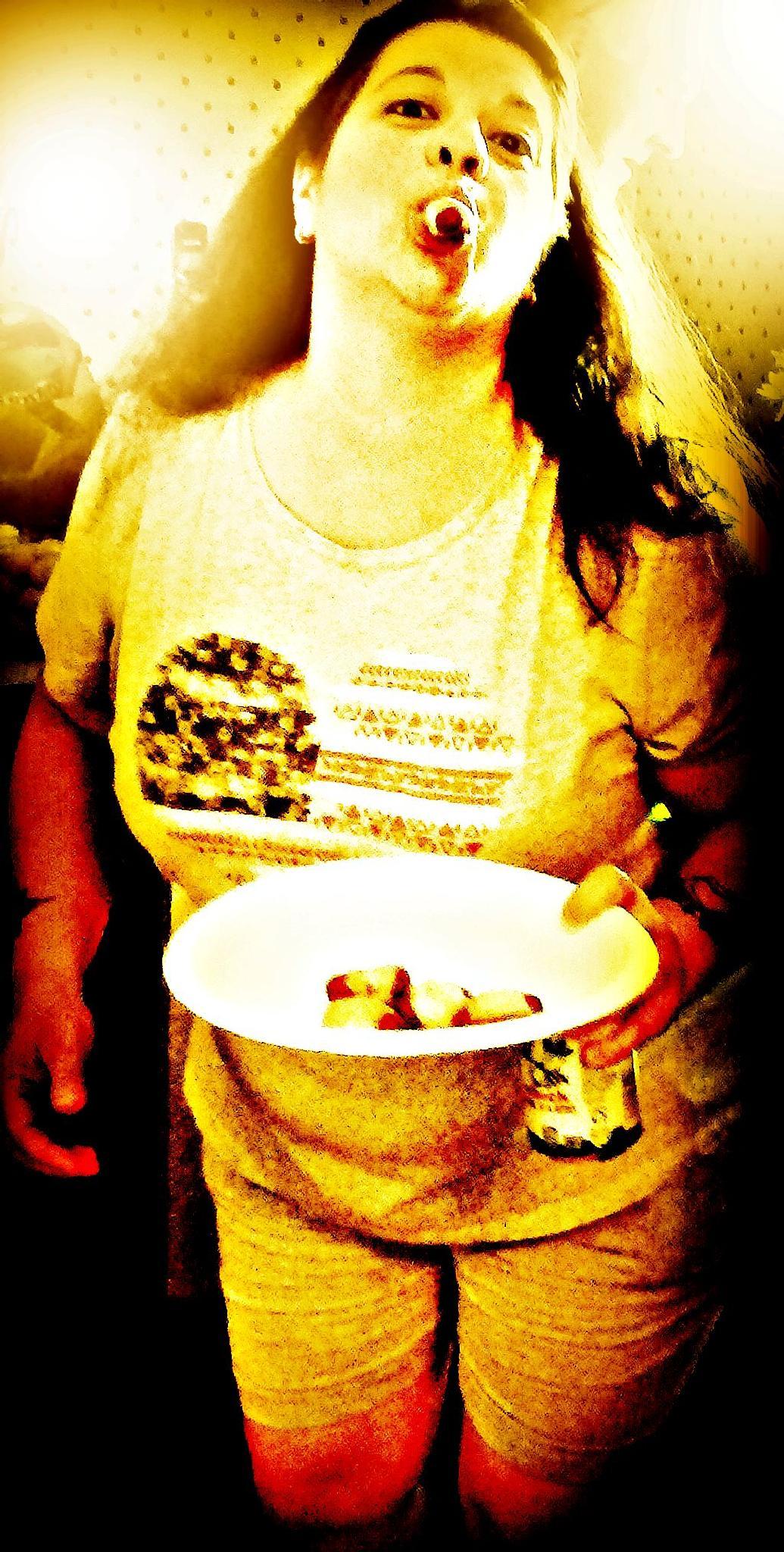 Junk food junkie..  by Teri
