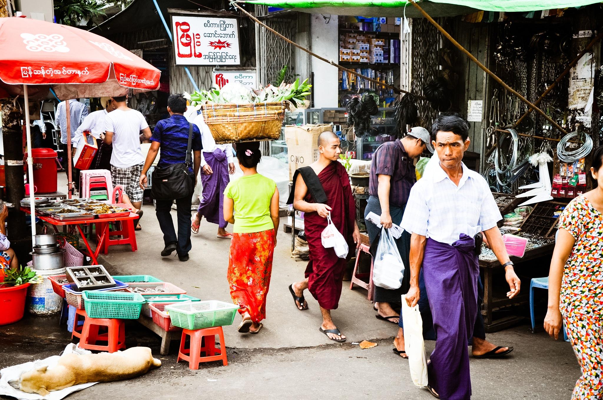 Streets of Yangon (Myanmar) by Jiri Bielicky