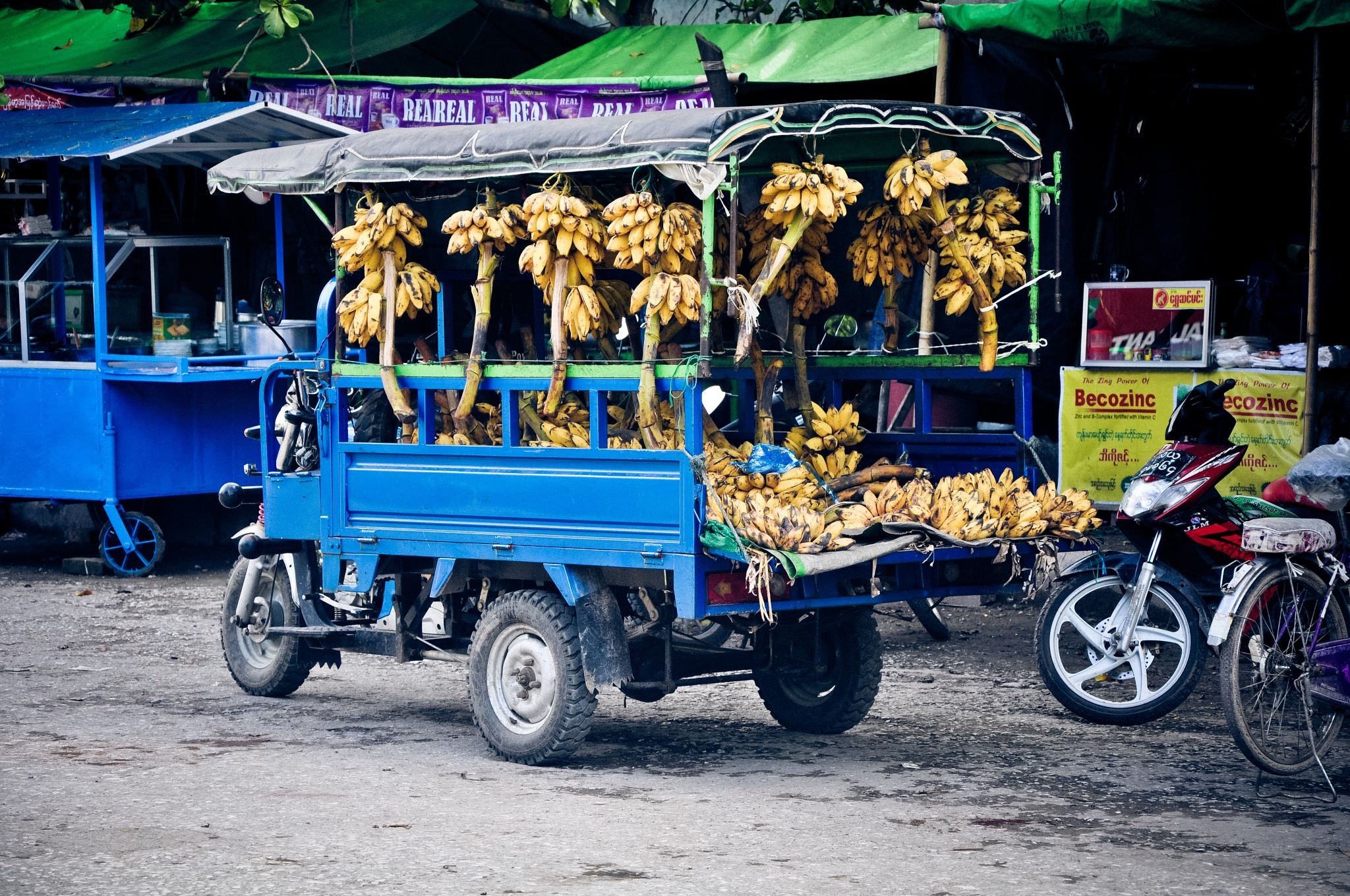 Fresh Bananas (Myanmar) by Jiri Bielicky
