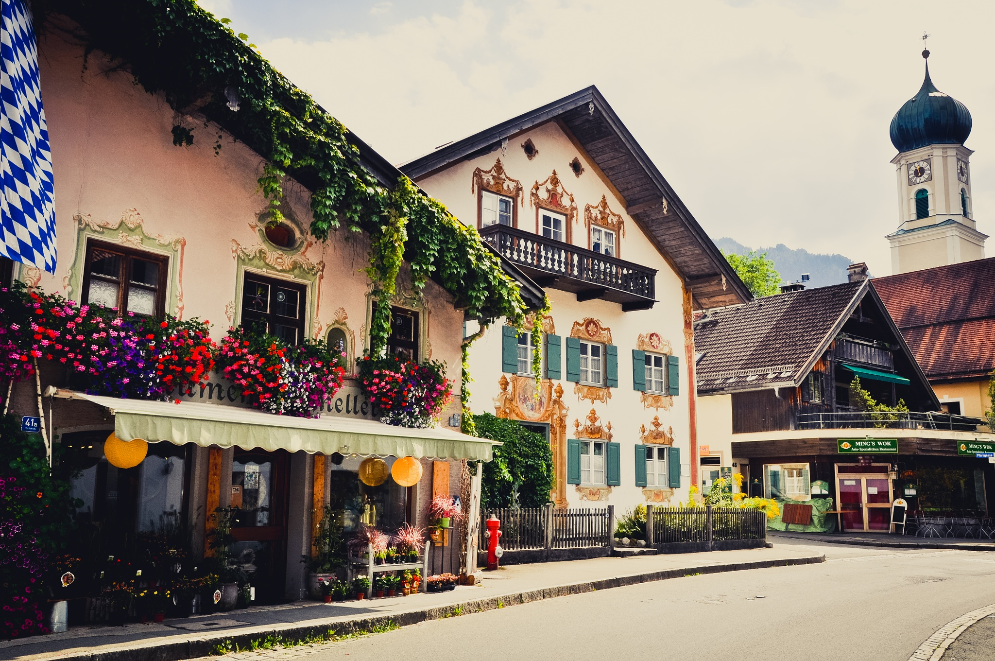 Village Of Oberammergau (Germany) by Jiri Bielicky