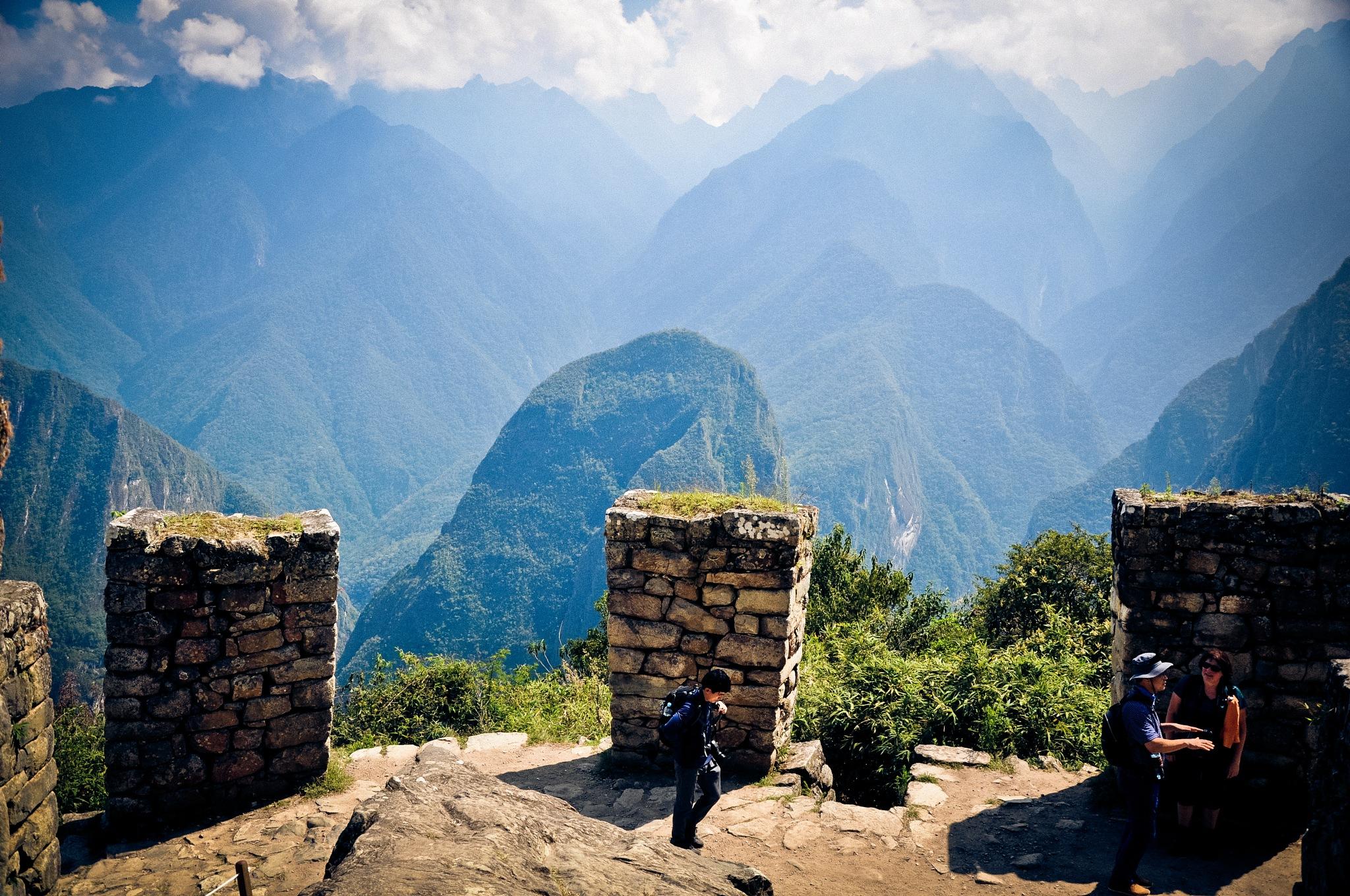 Climbing Machu Picchu Mountain (Peru) by Jiri Bielicky