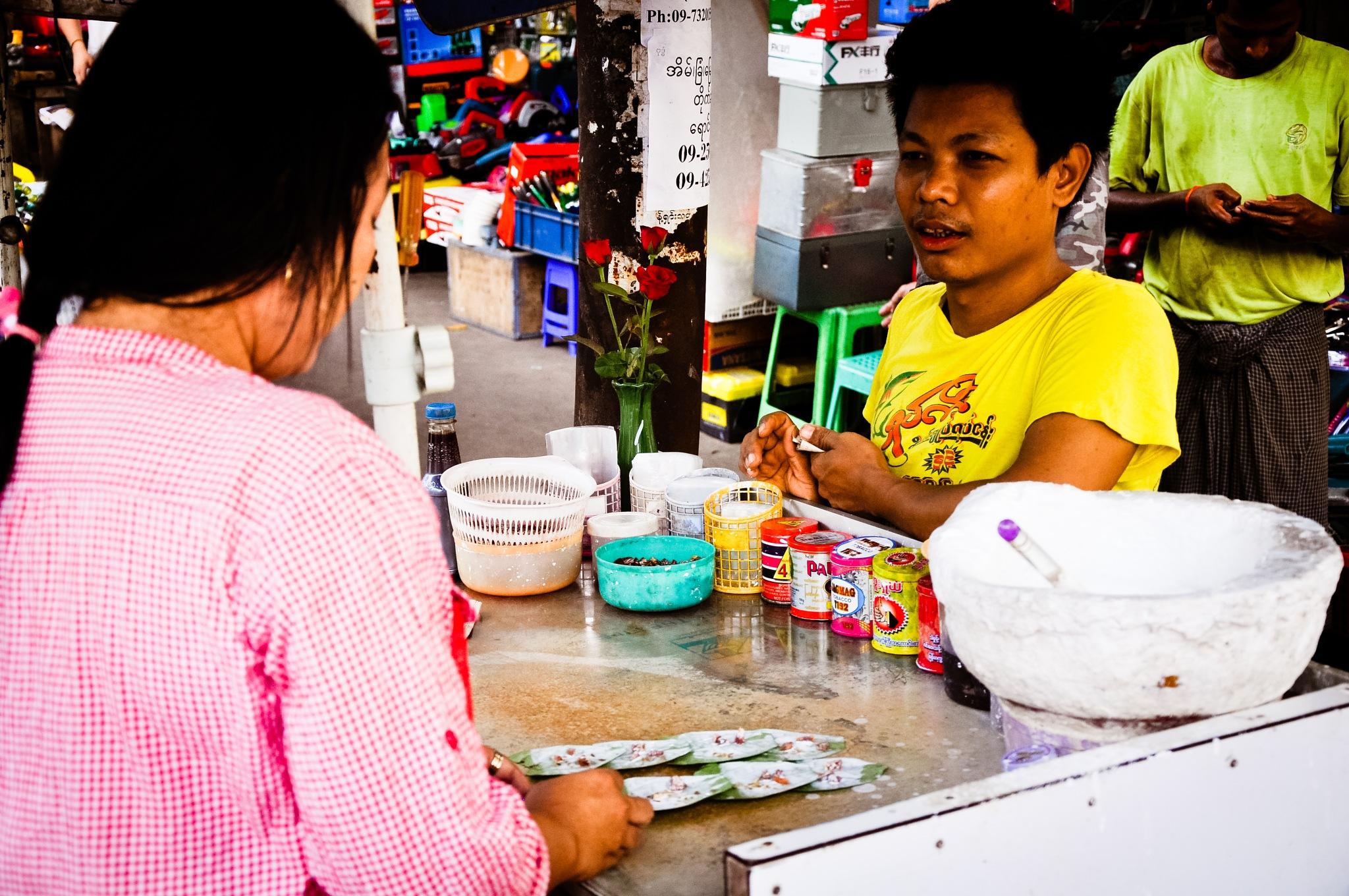 Buying Betel Nut Leaves (Myanmar) by Jiri Bielicky