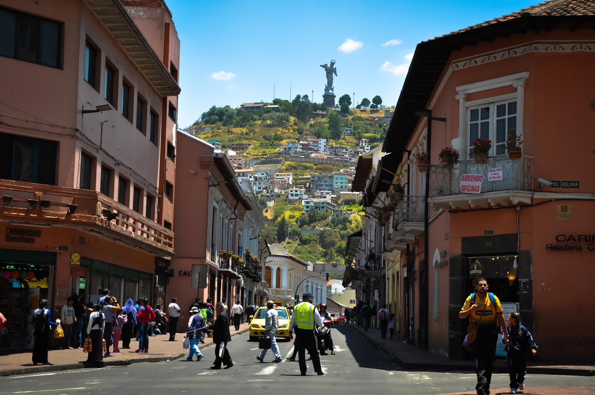 The Virgin Of Quito On The Panecillo Hill, Quito (Ecuador) by Jiri Bielicky