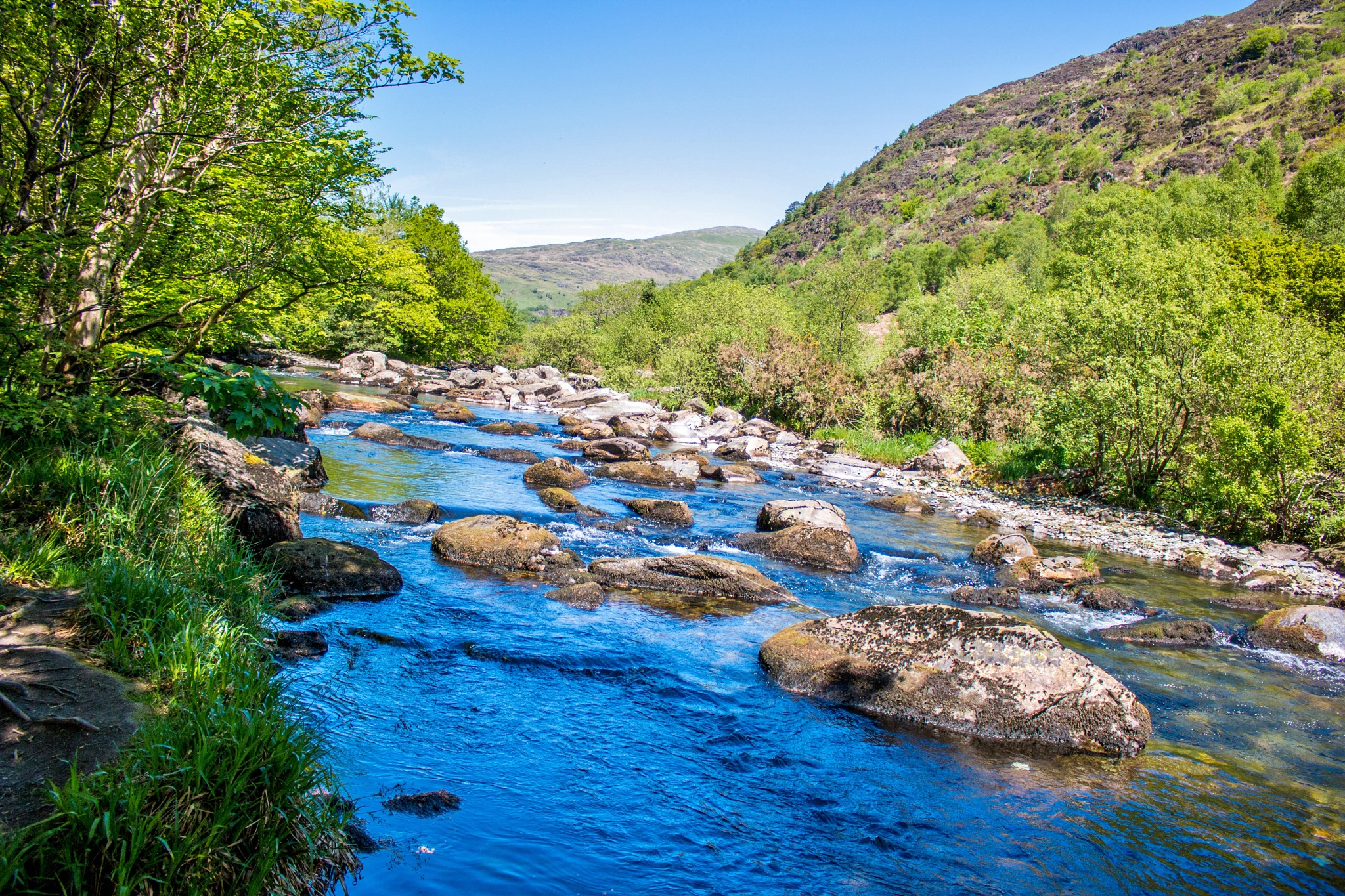 River in Wales by Colin
