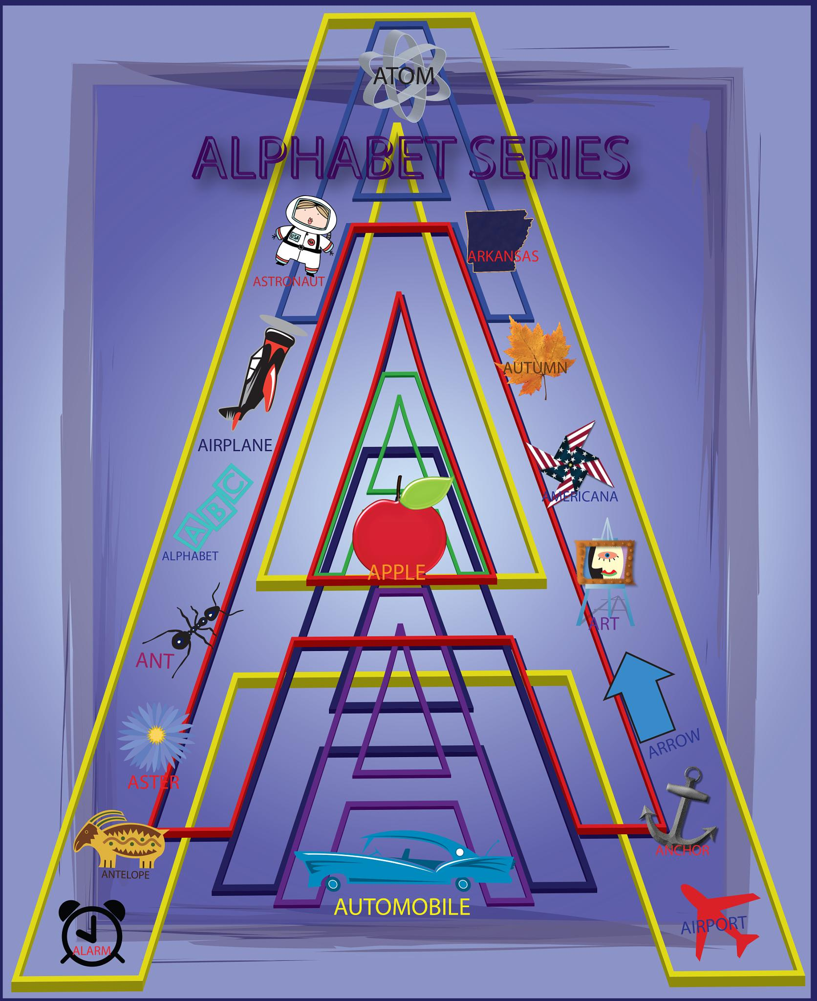 "Alphabet Series ""A"" - Vector Illustration by Steve Ohlsen"