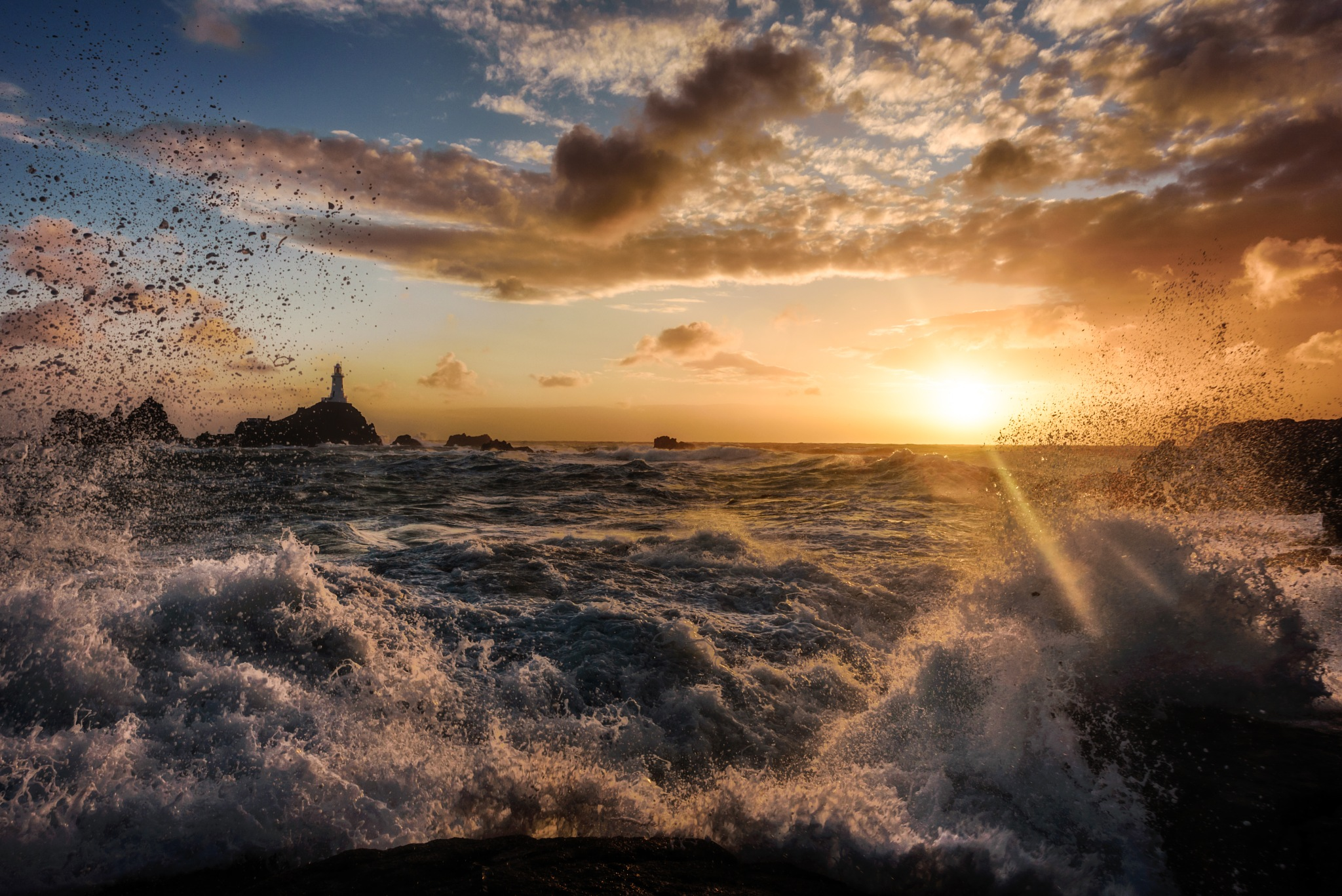 Corbiere Stormy Sunset by Paul