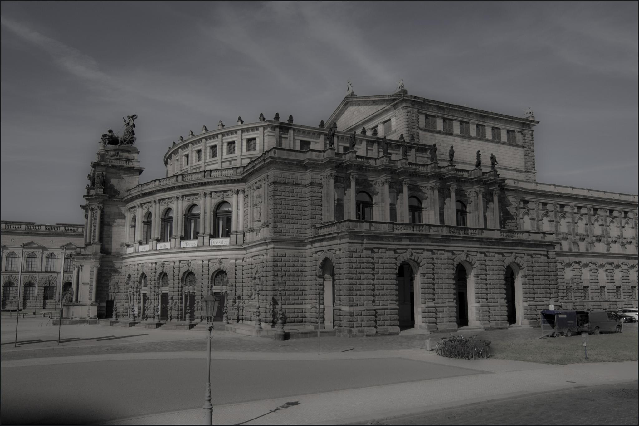 Old Building in Dresden by Laine